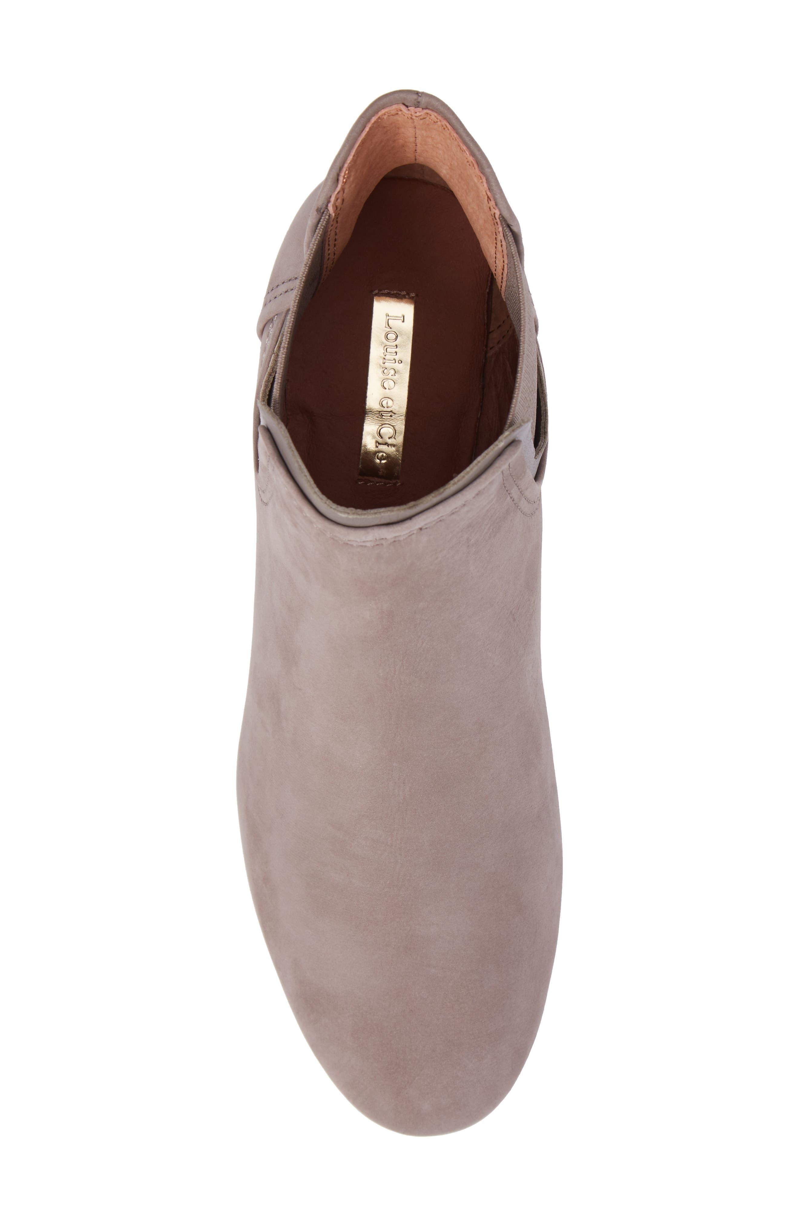 Waldon Chelsea Boot,                             Alternate thumbnail 5, color,                             Gravel Leather