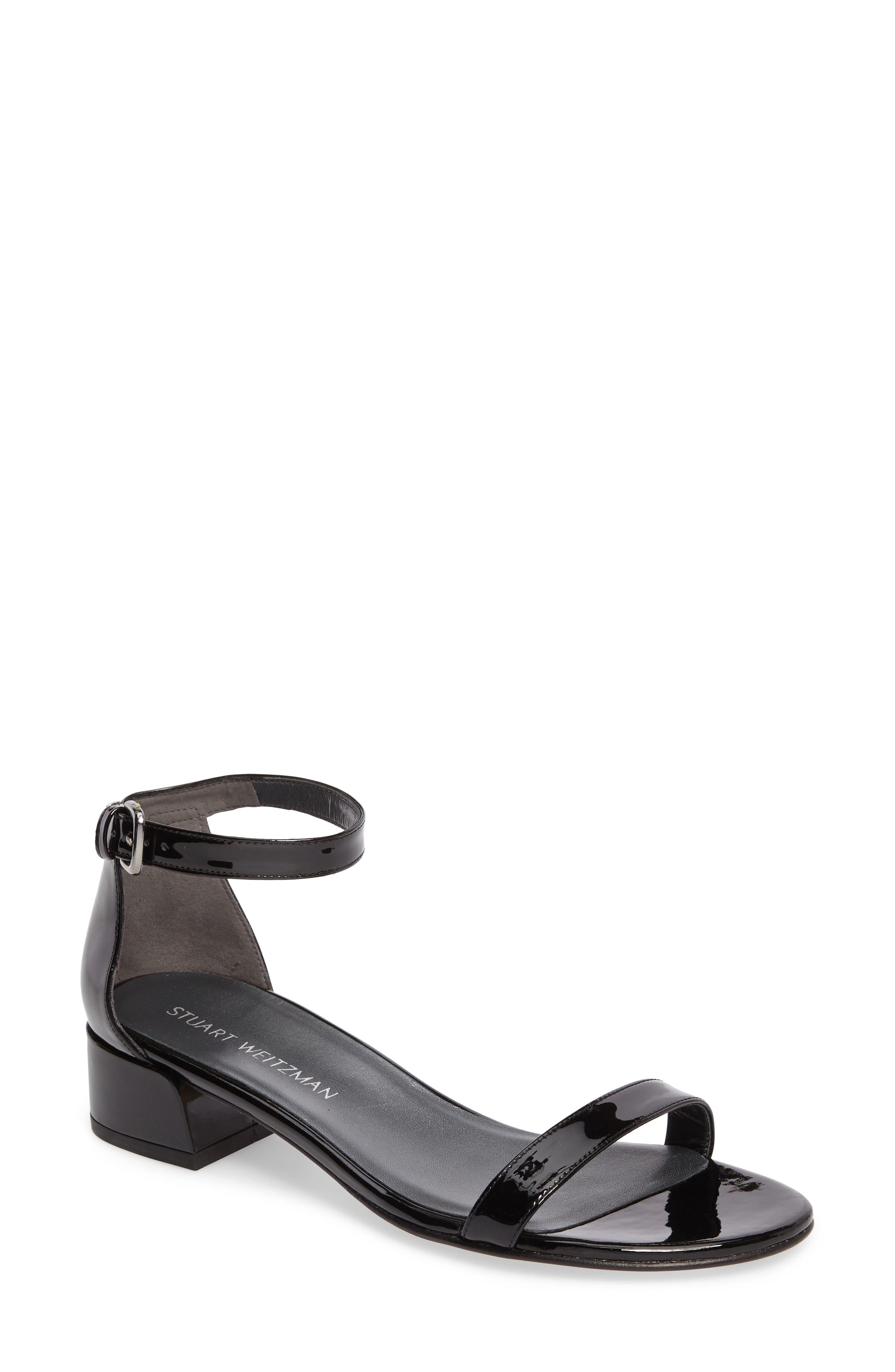 NudistJune Block Heel Sandal,                             Main thumbnail 1, color,                             Black Patent