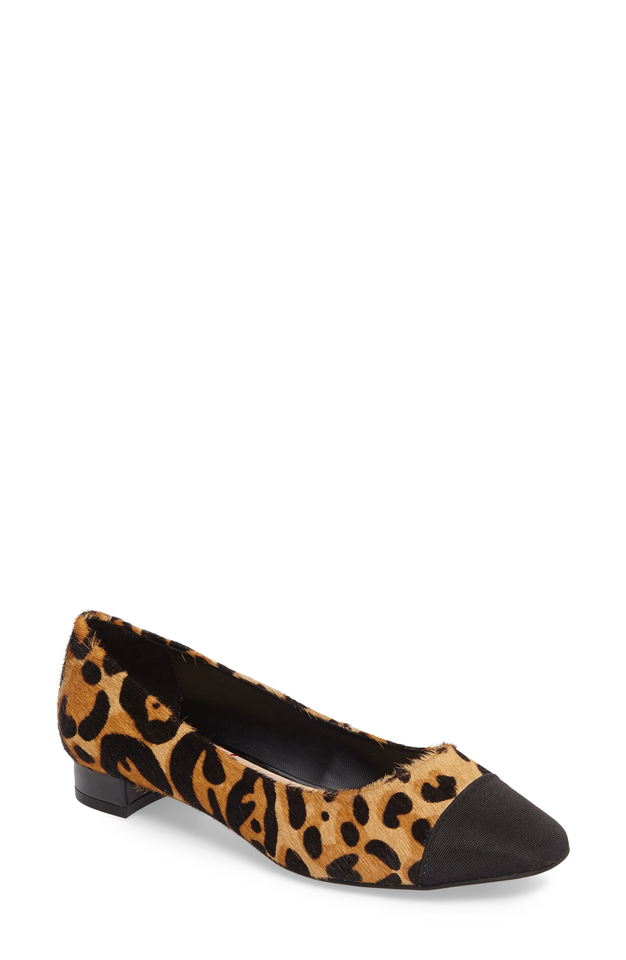 Brea Flat,                         Main,                         color, Leopard Calf Hair