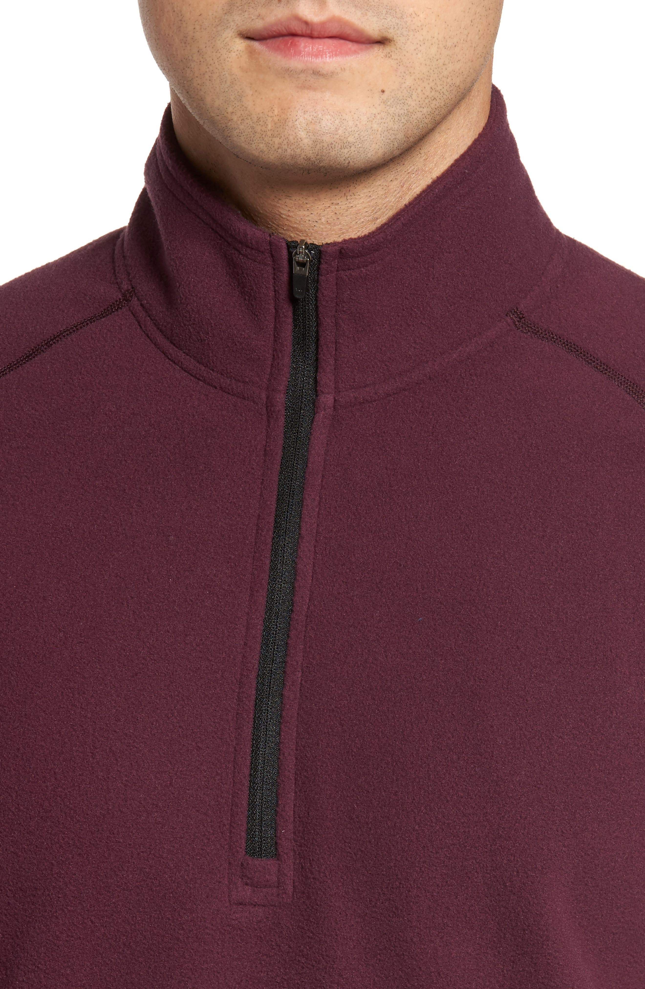 Alternate Image 4  - Zella Quarter Zip Fleece Pullover