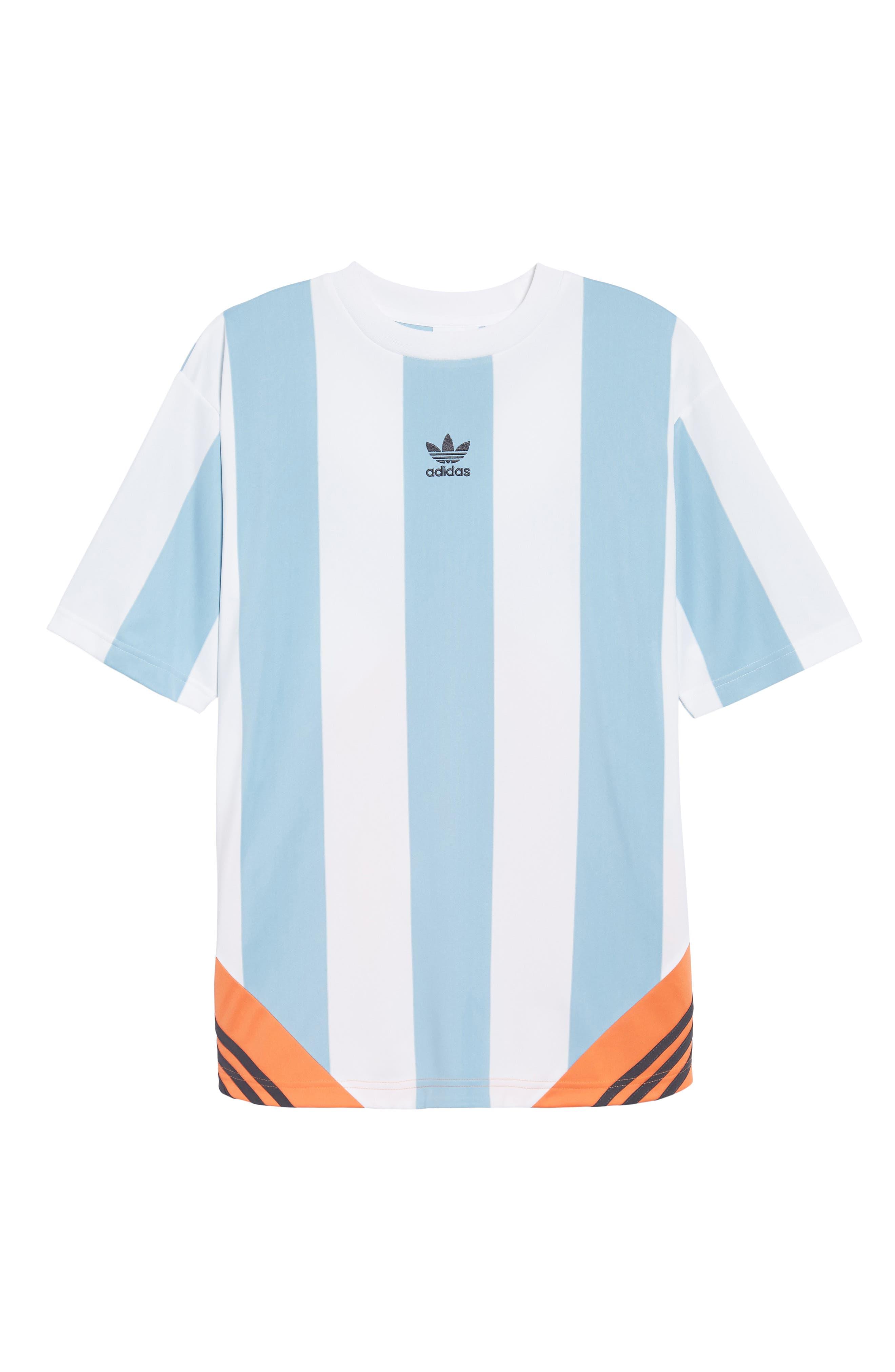 Originals Rival Goalie T-Shirt,                             Alternate thumbnail 6, color,                             Ash Grey/ White