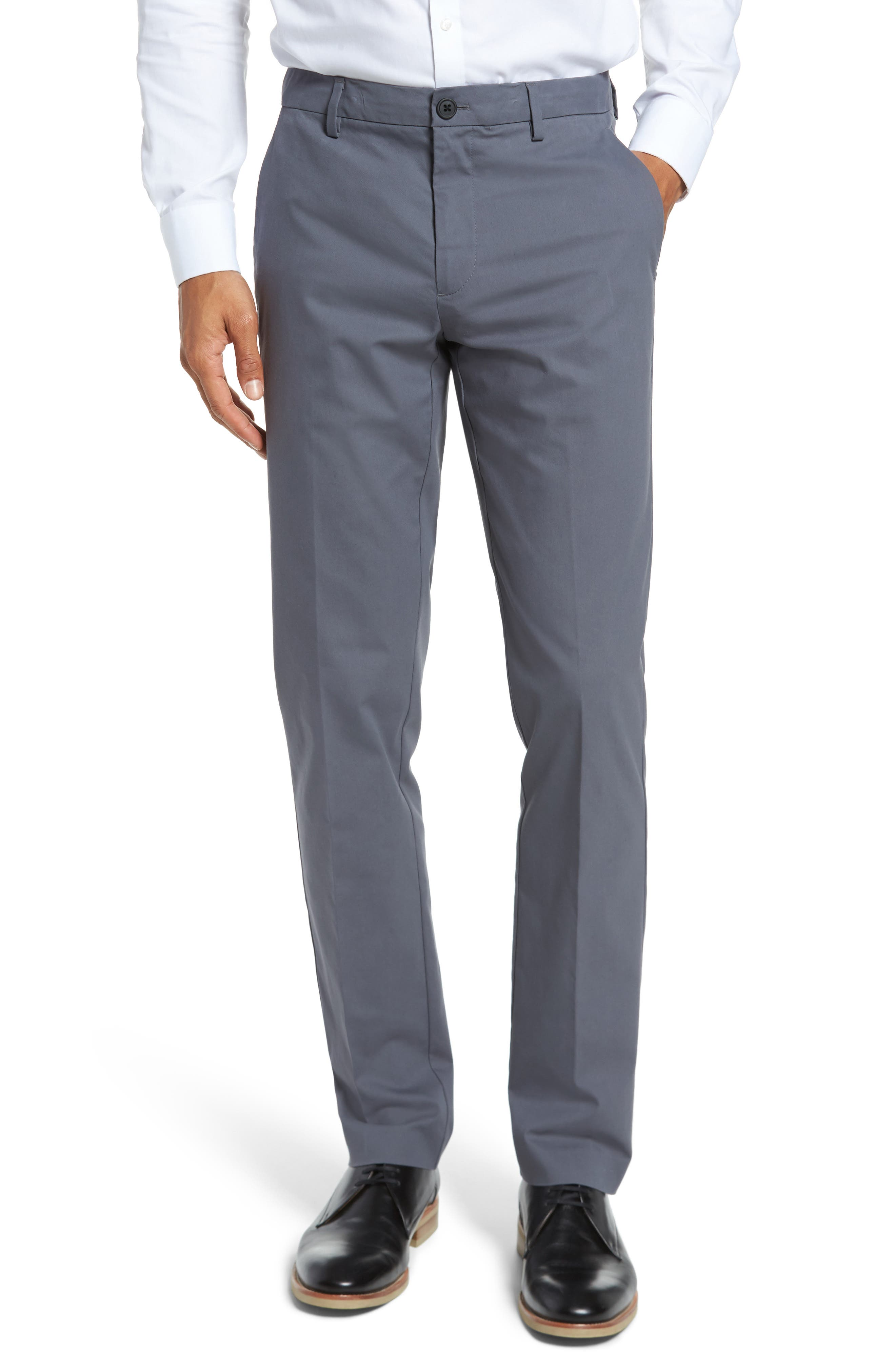 Slim Fit Tech Chinos,                         Main,                         color, Thundercloud