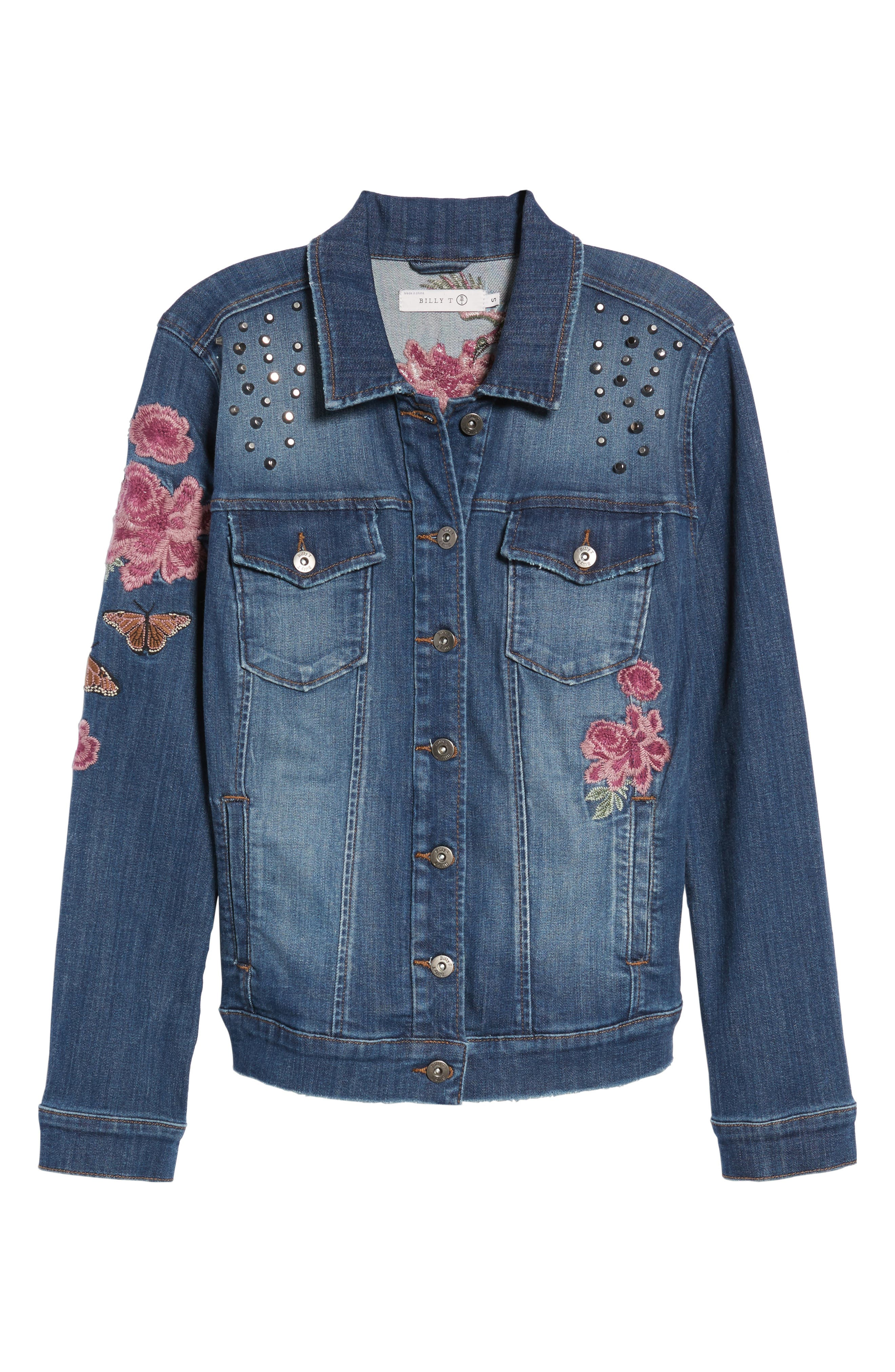 Alternate Image 6  - Billy T Embroidered Denim Jacket