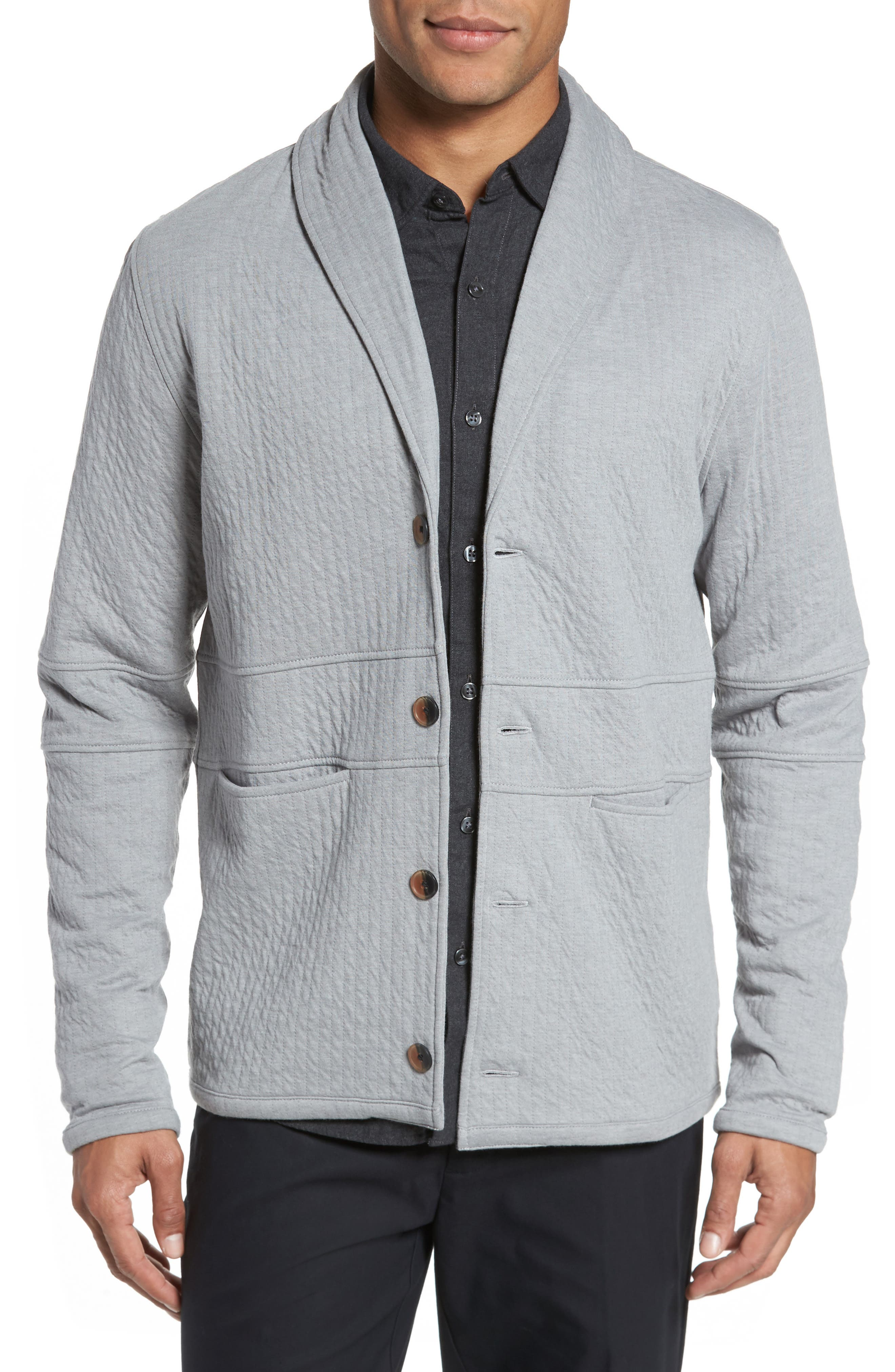 Billy Reid Quilted Shawl Collar Sweater | Nordstrom
