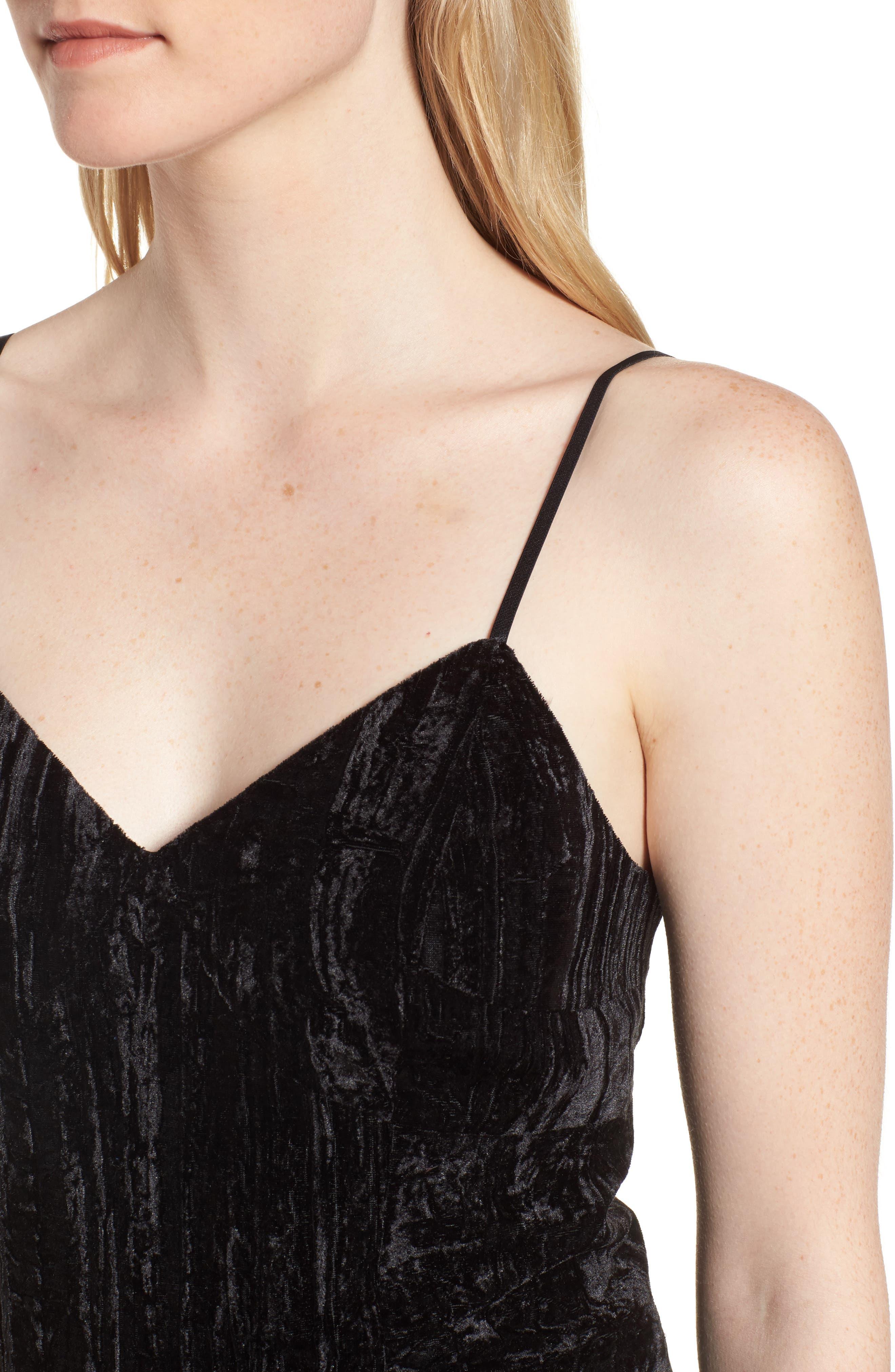 Alternate Image 4  - Trouvé Smocked Velvet Camisole
