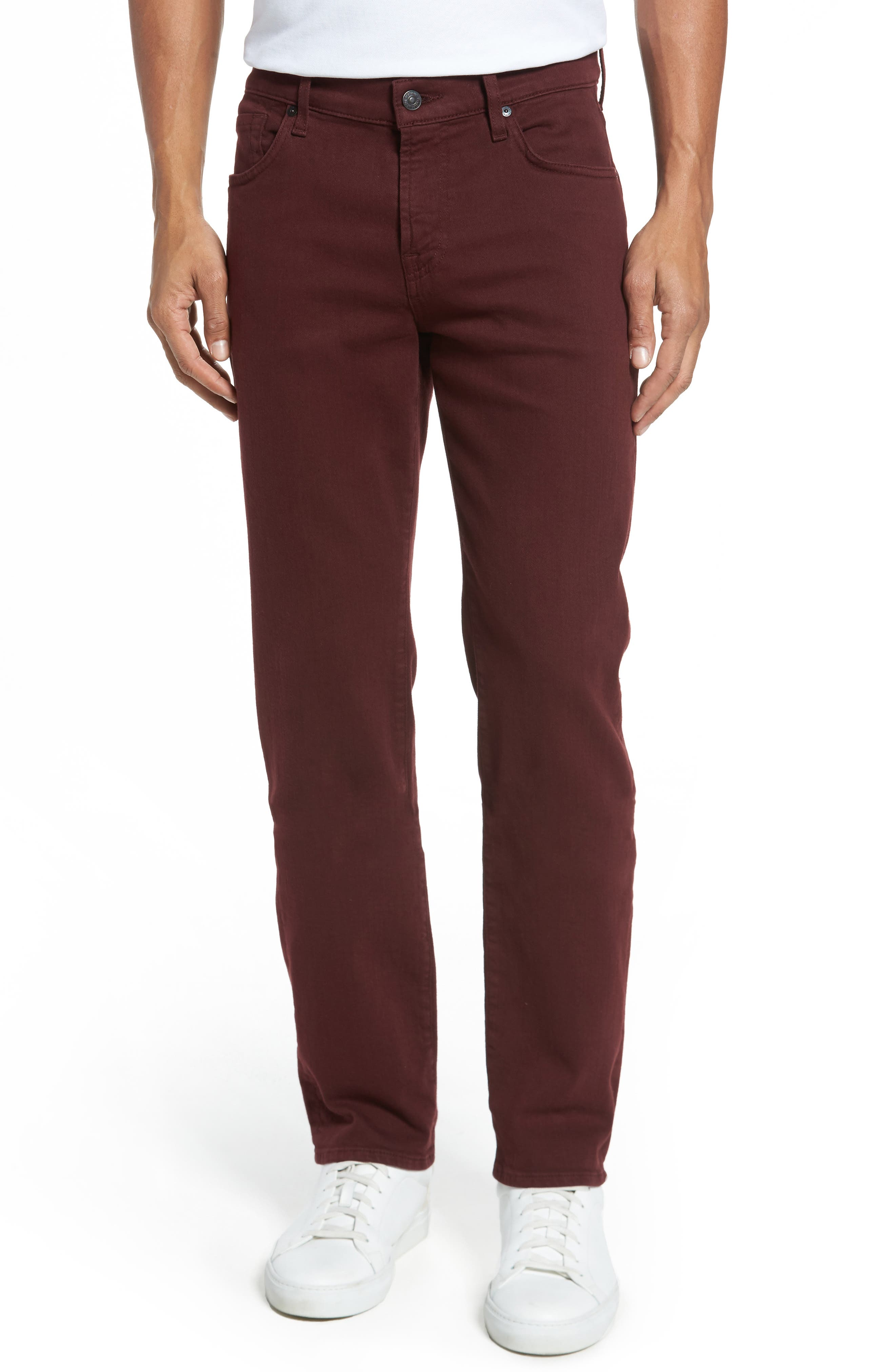 7 For All Mankind® Slimmy Slim Fit Jeans (Oxblood)
