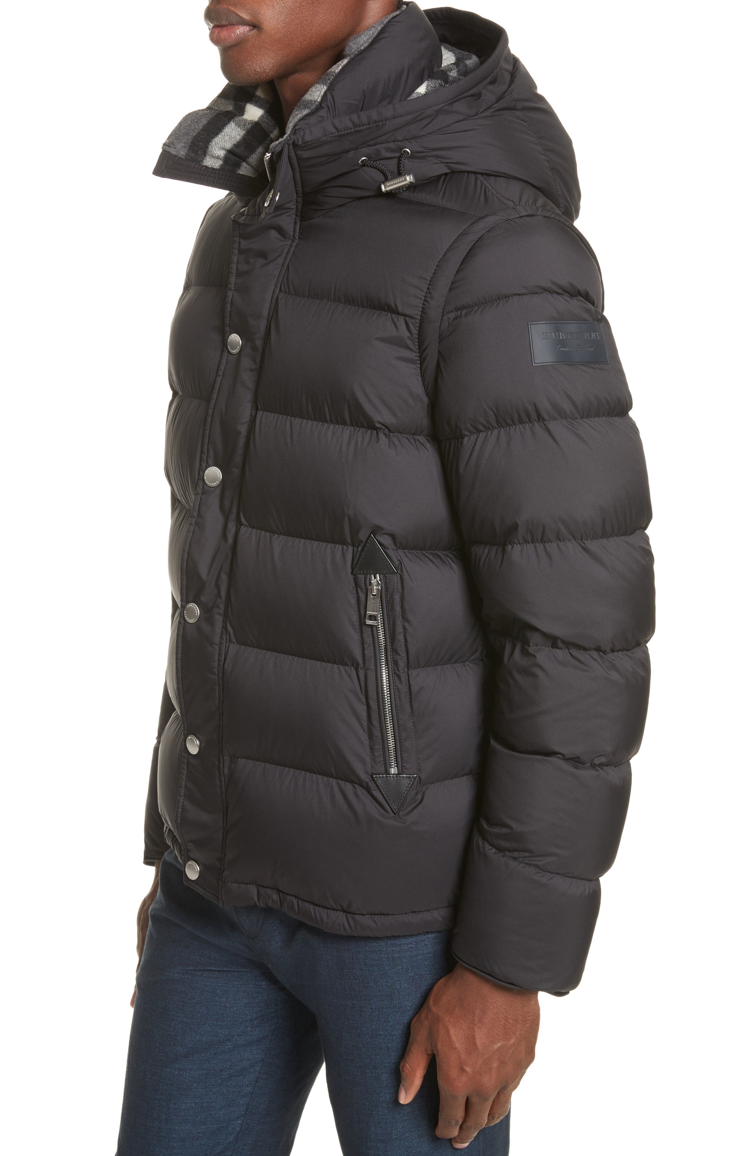 Alternate Image 4  - Burberry Hartley Convertible Down Jacket