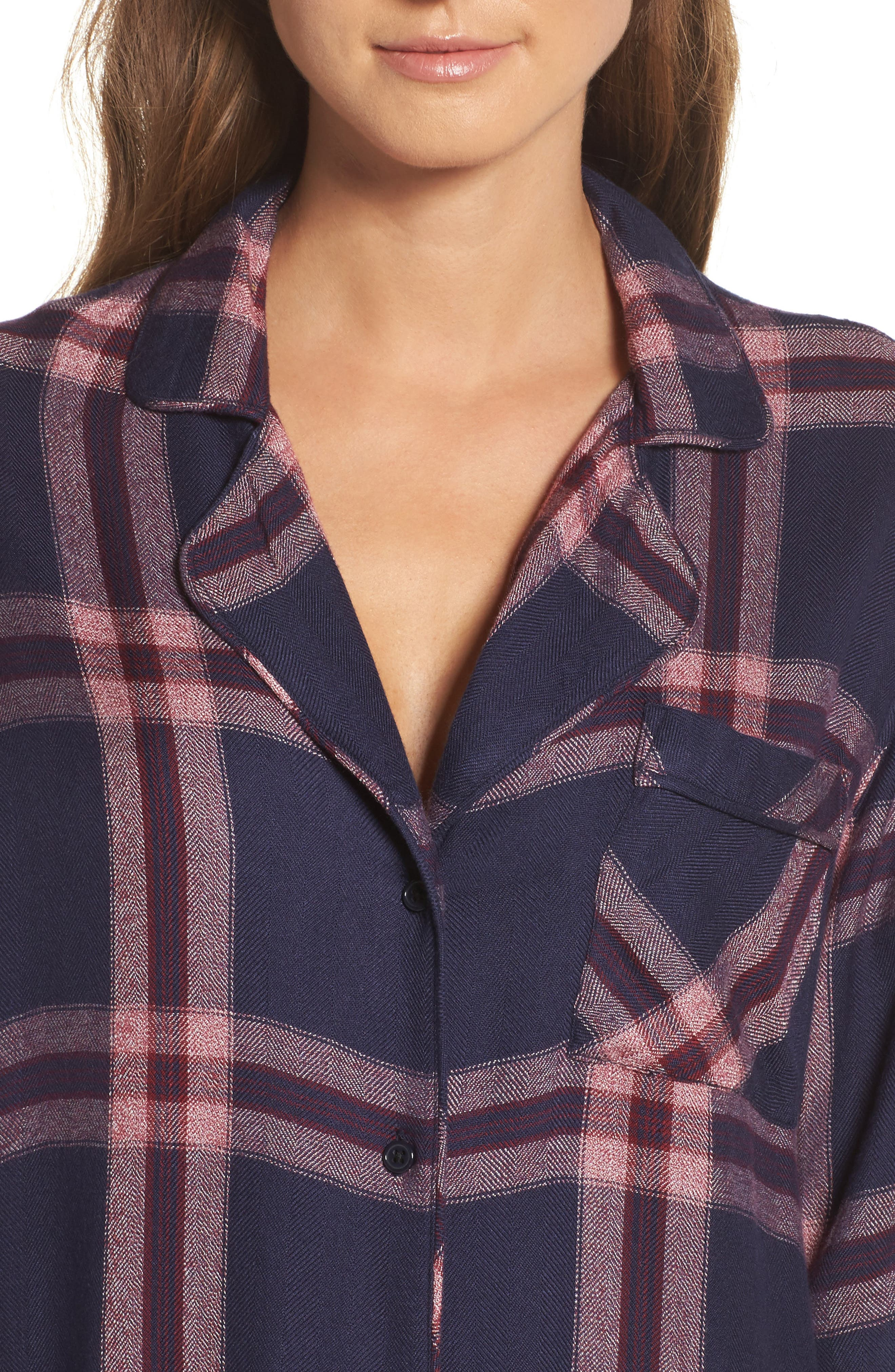 Alternate Image 5  - Rails Plaid Sleep Shirt