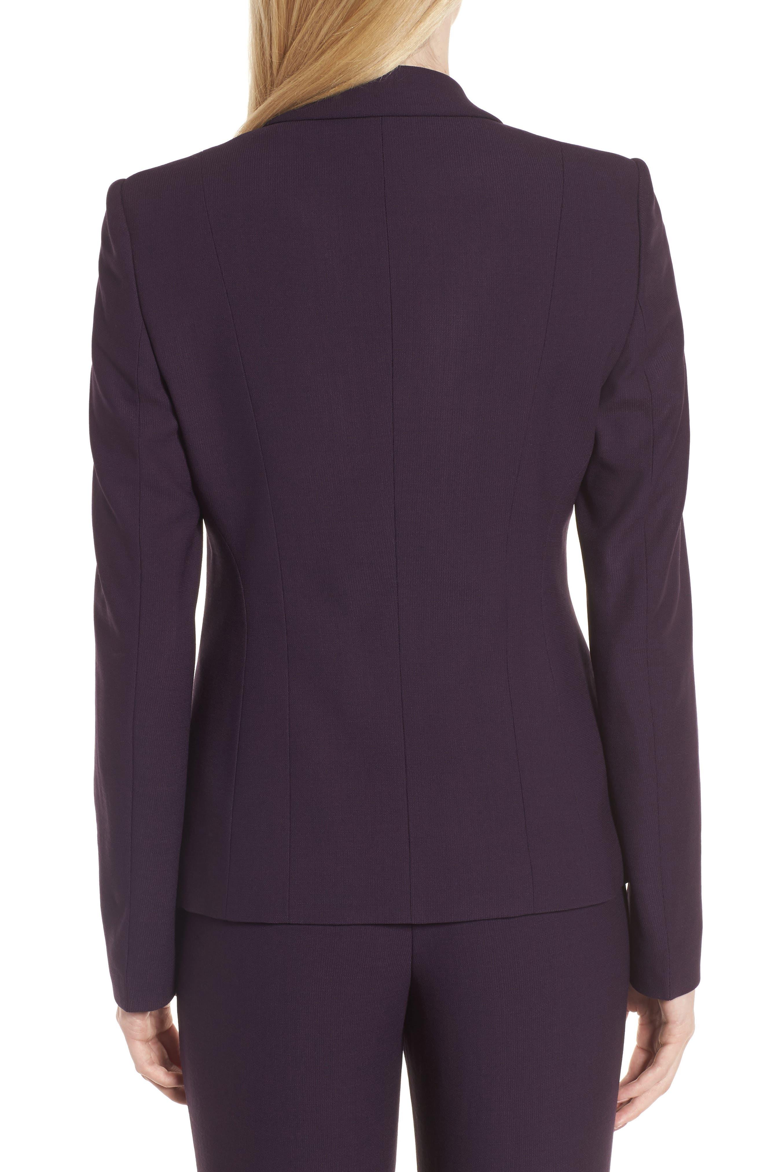 Alternate Image 2  - BOSS Jonalua Stretch Wool Suit Jacket (Regular & Petite)