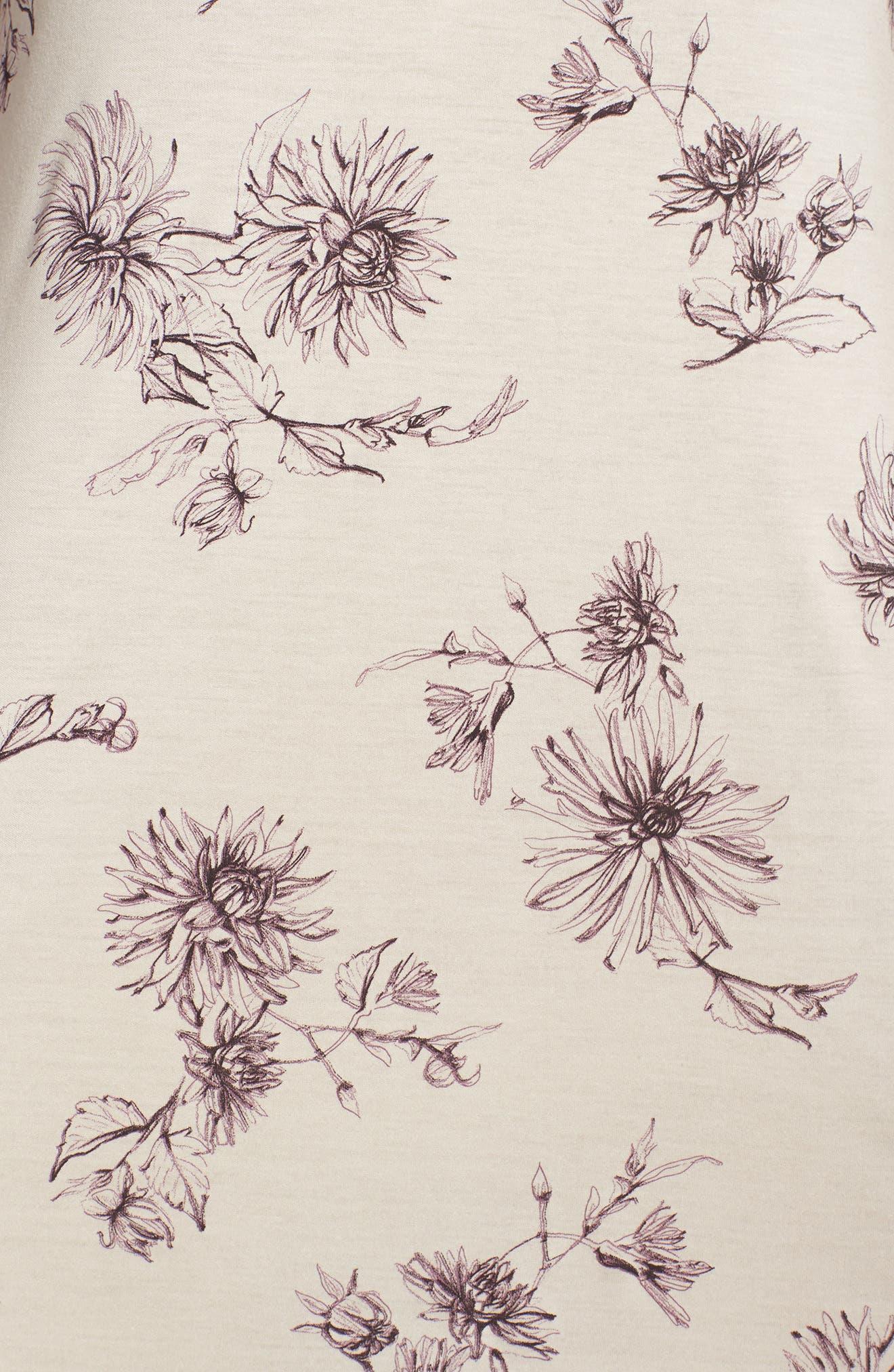 Camille Chemise,                             Alternate thumbnail 5, color,                             Fragile Flower