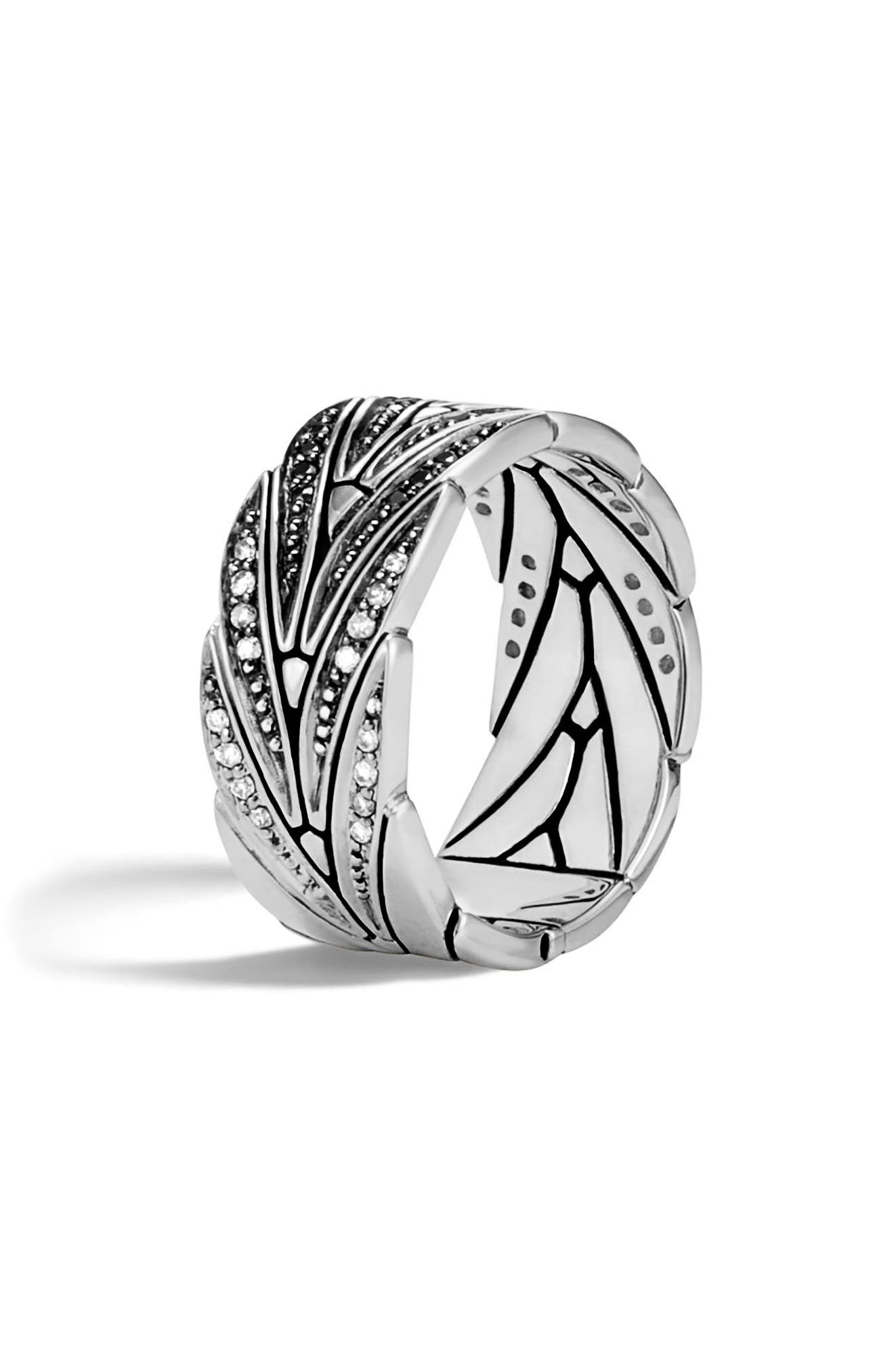 Alternate Image 3  - John Hardy Modern Chain Diamond Pavé Band Ring