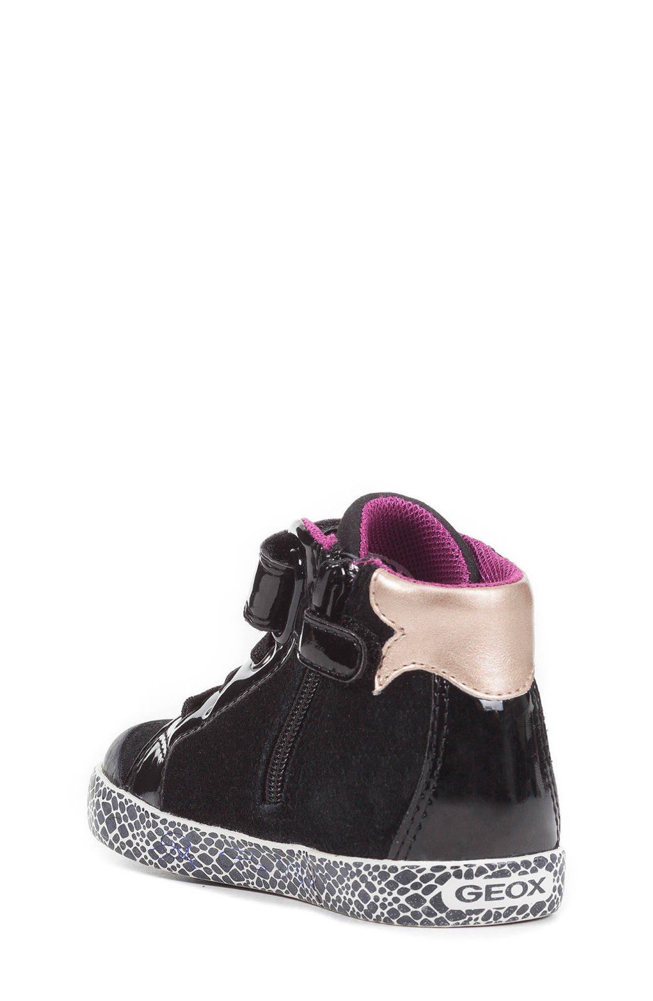 Kiwi Girl High Top Sneaker,                             Alternate thumbnail 2, color,                             Black/ Cyclamen