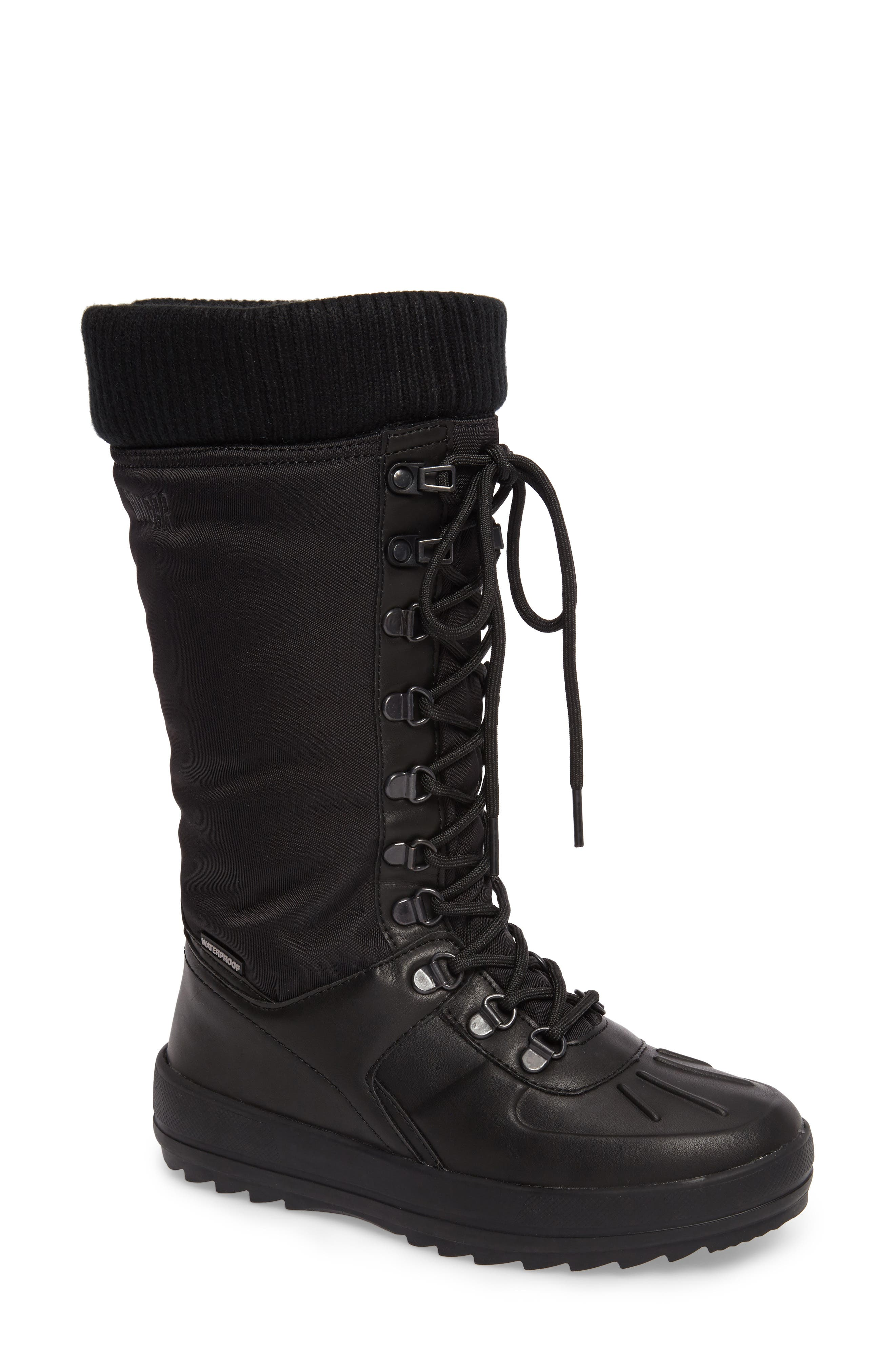 Vancouver Waterproof Winter Boot,                         Main,                         color, Black All Over