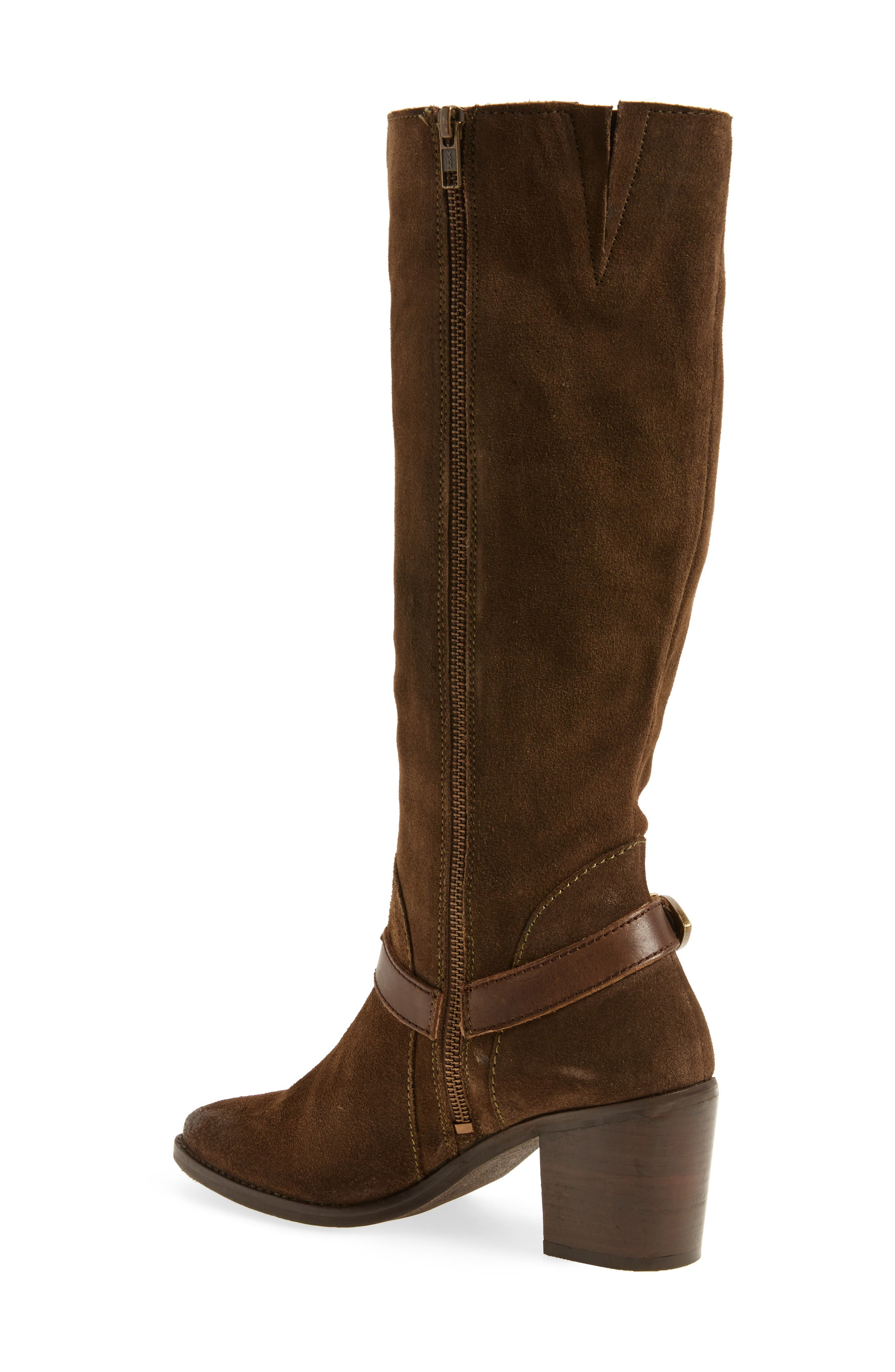Natasha Tall Boot,                             Alternate thumbnail 2, color,                             Dark Olive Suede