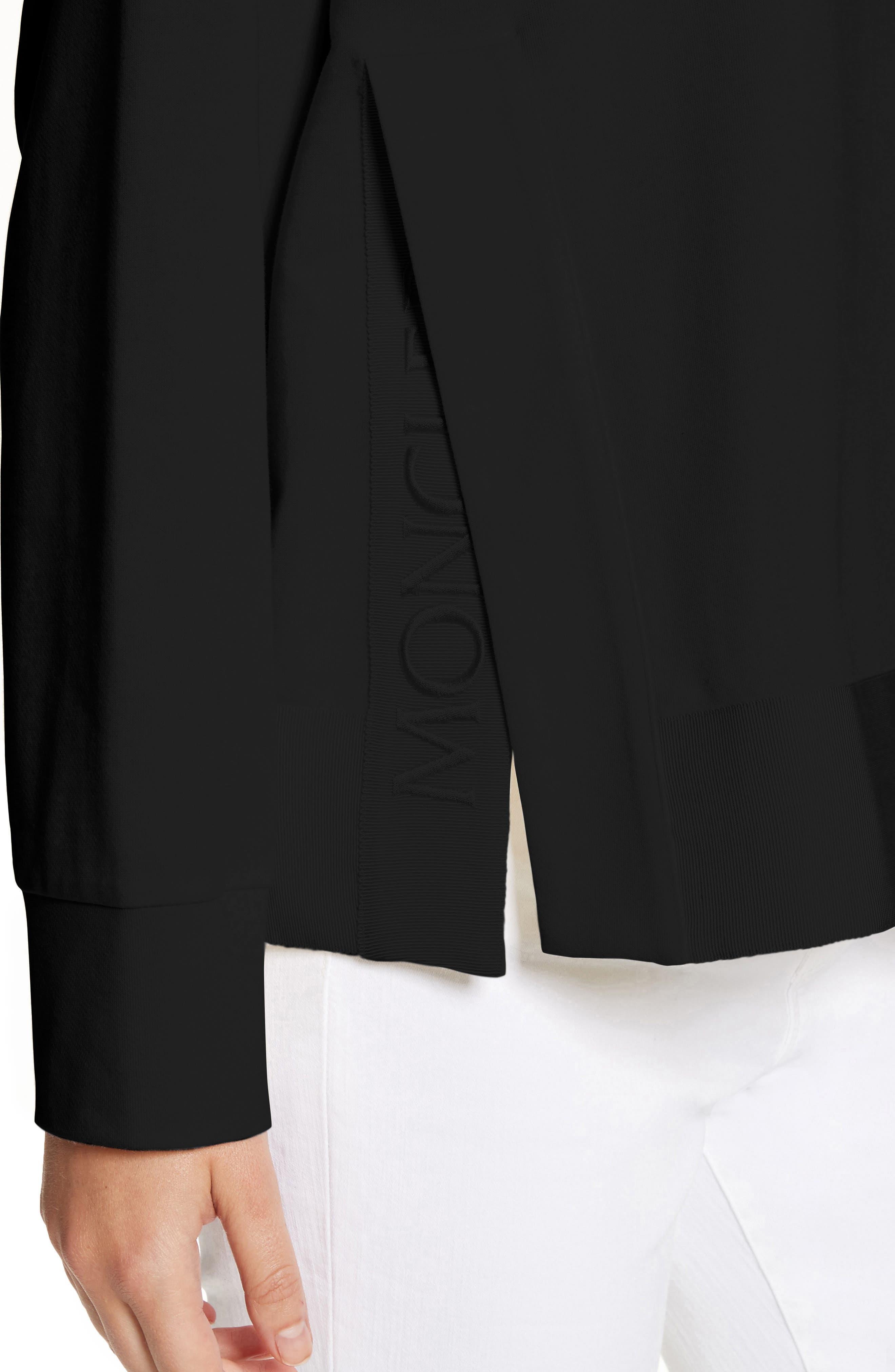 Cotton Sweatshirt,                             Alternate thumbnail 4, color,                             Black