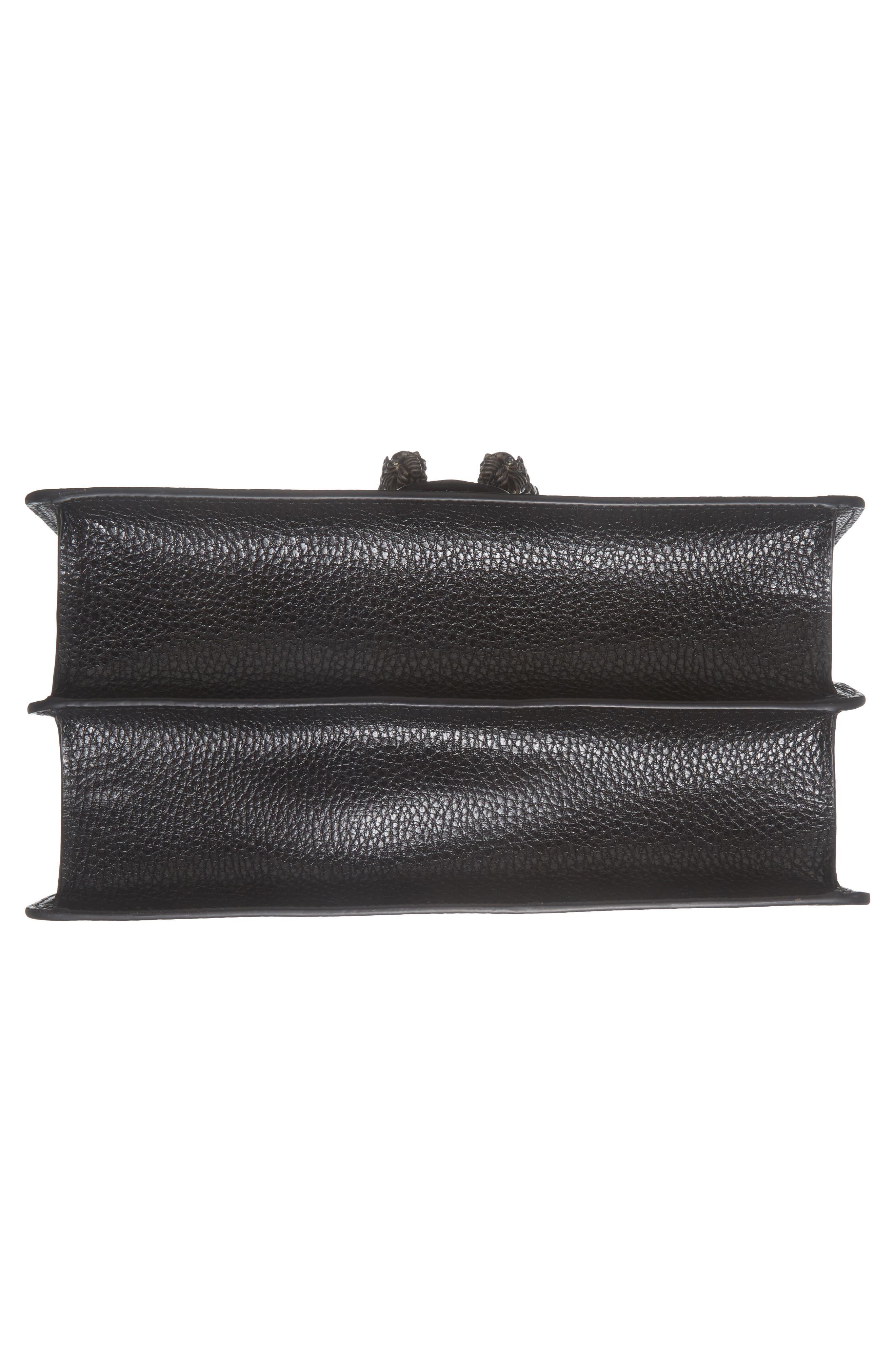Medium Dionysus Leather Top Handle Satchel,                             Alternate thumbnail 6, color,                             Nero/ Vrv/ Black Diamond