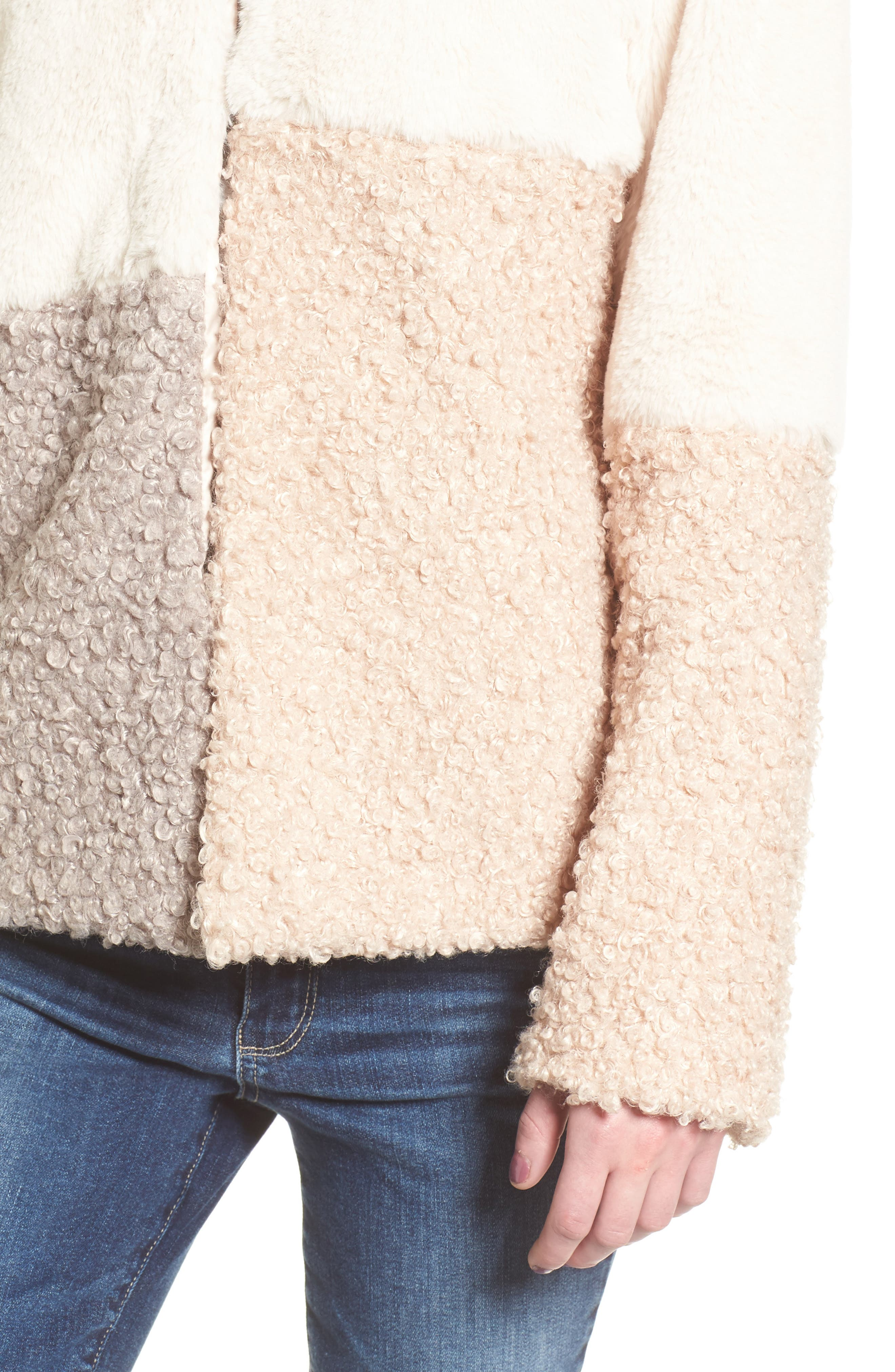 Alternate Image 4  - Sam Edelman Patchwork Faux Fur Coat
