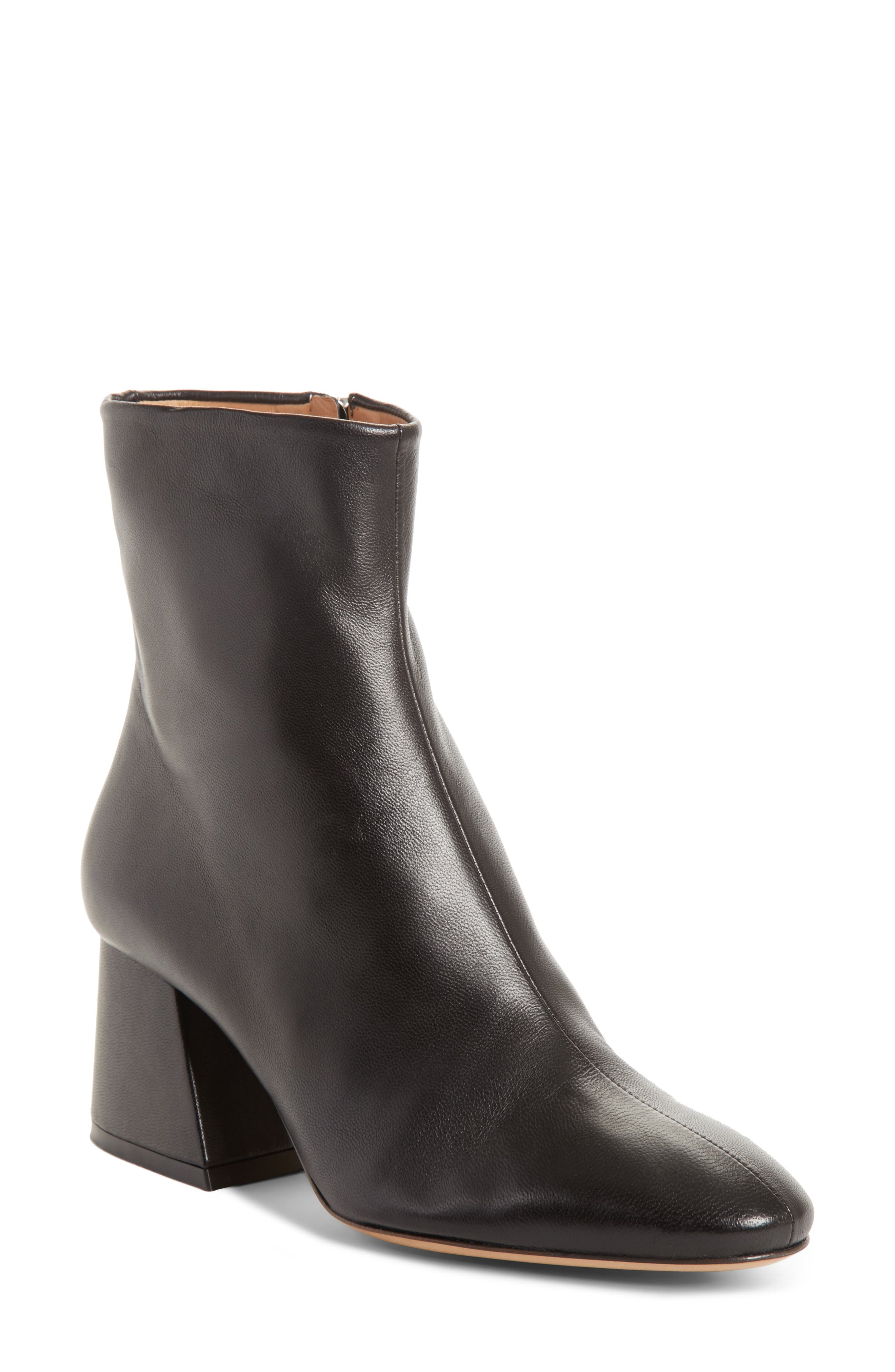 Flare Heel Ankle Boot,                         Main,                         color, Black