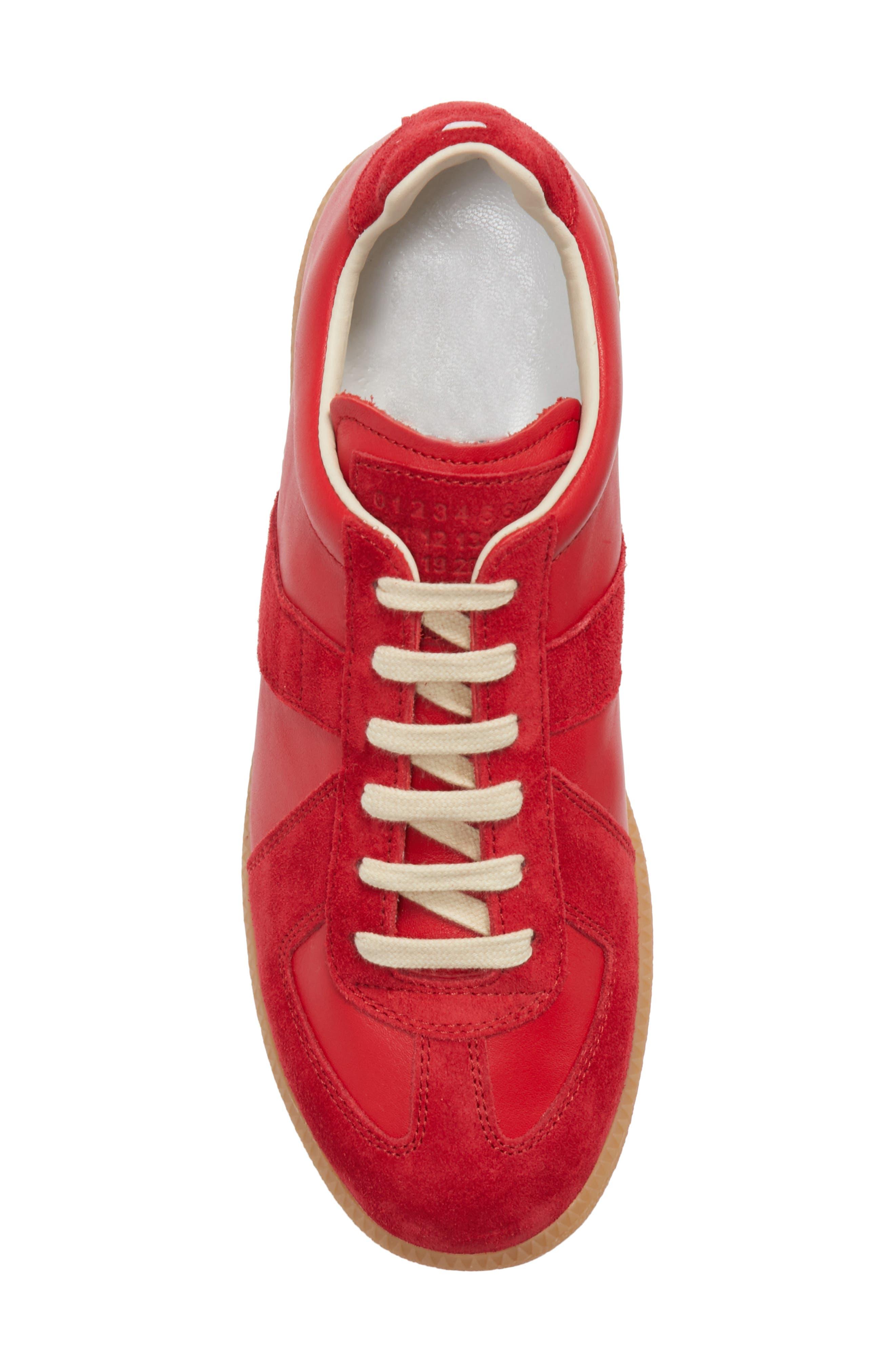 Replica Sneaker,                             Alternate thumbnail 5, color,                             Red/Amber
