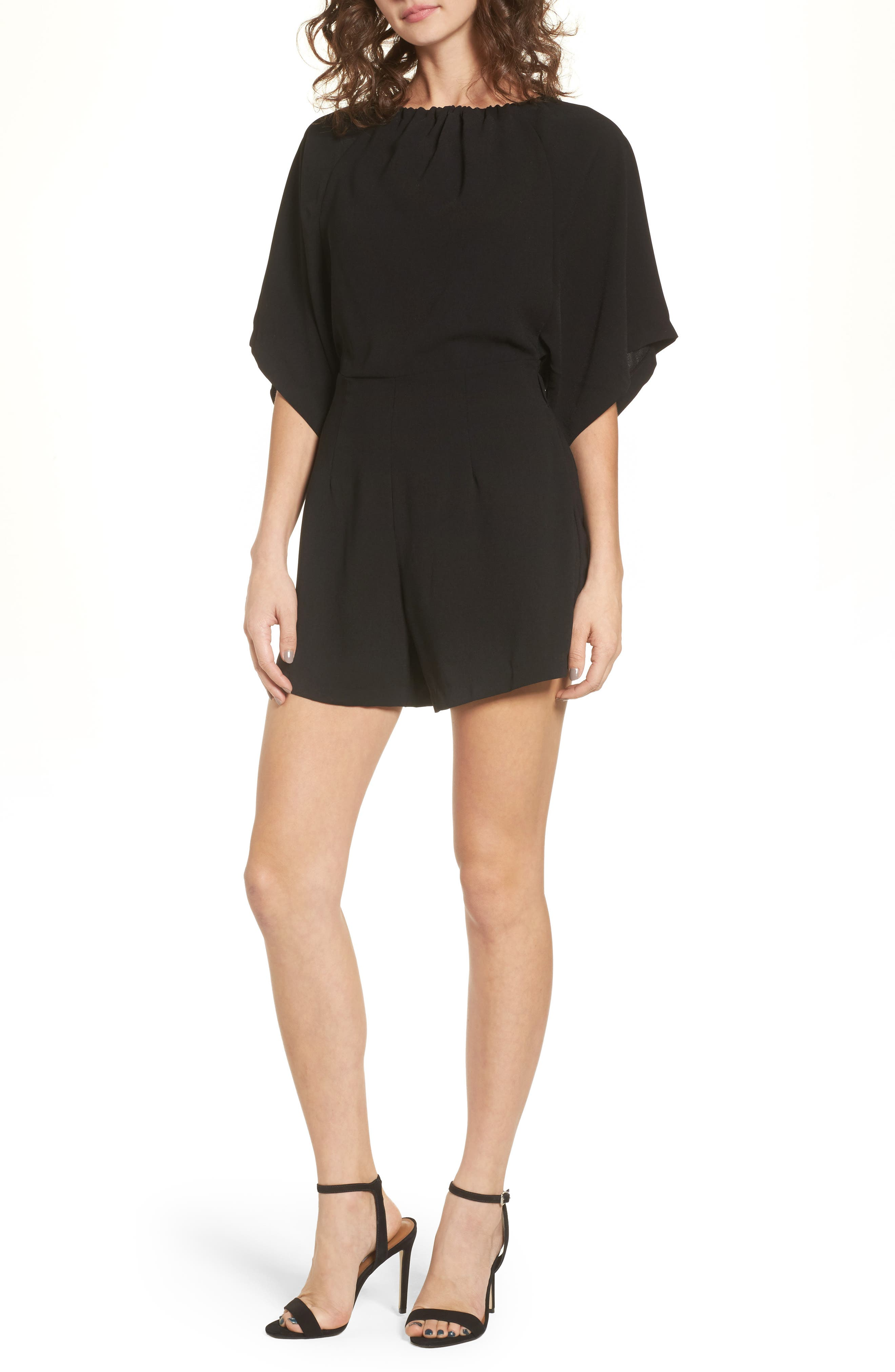 Alternate Image 1 Selected - LOST INK Button Back Romper