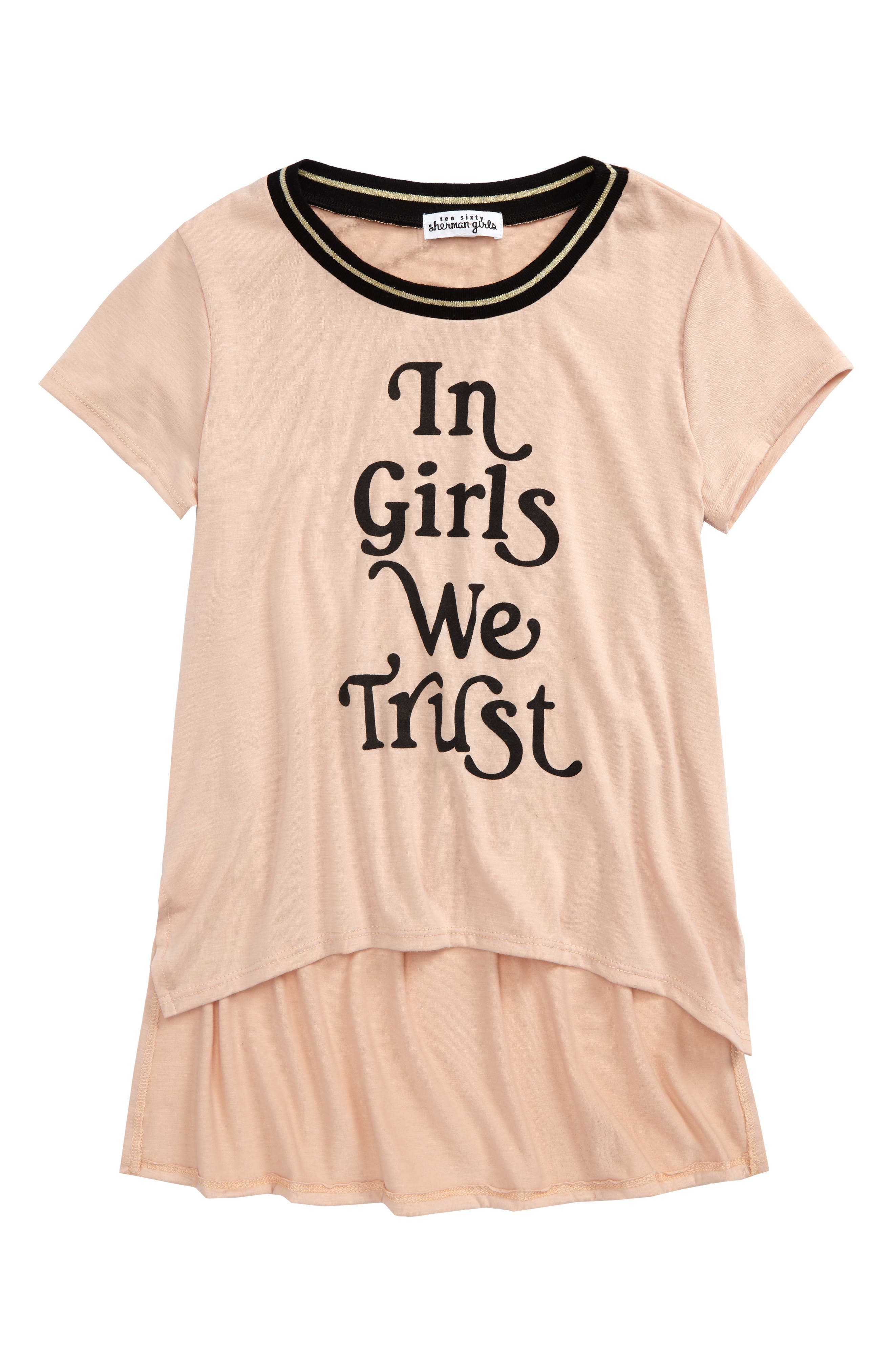 Ten Sixty Sherman In Girls We Trust Tee (Big Girls)