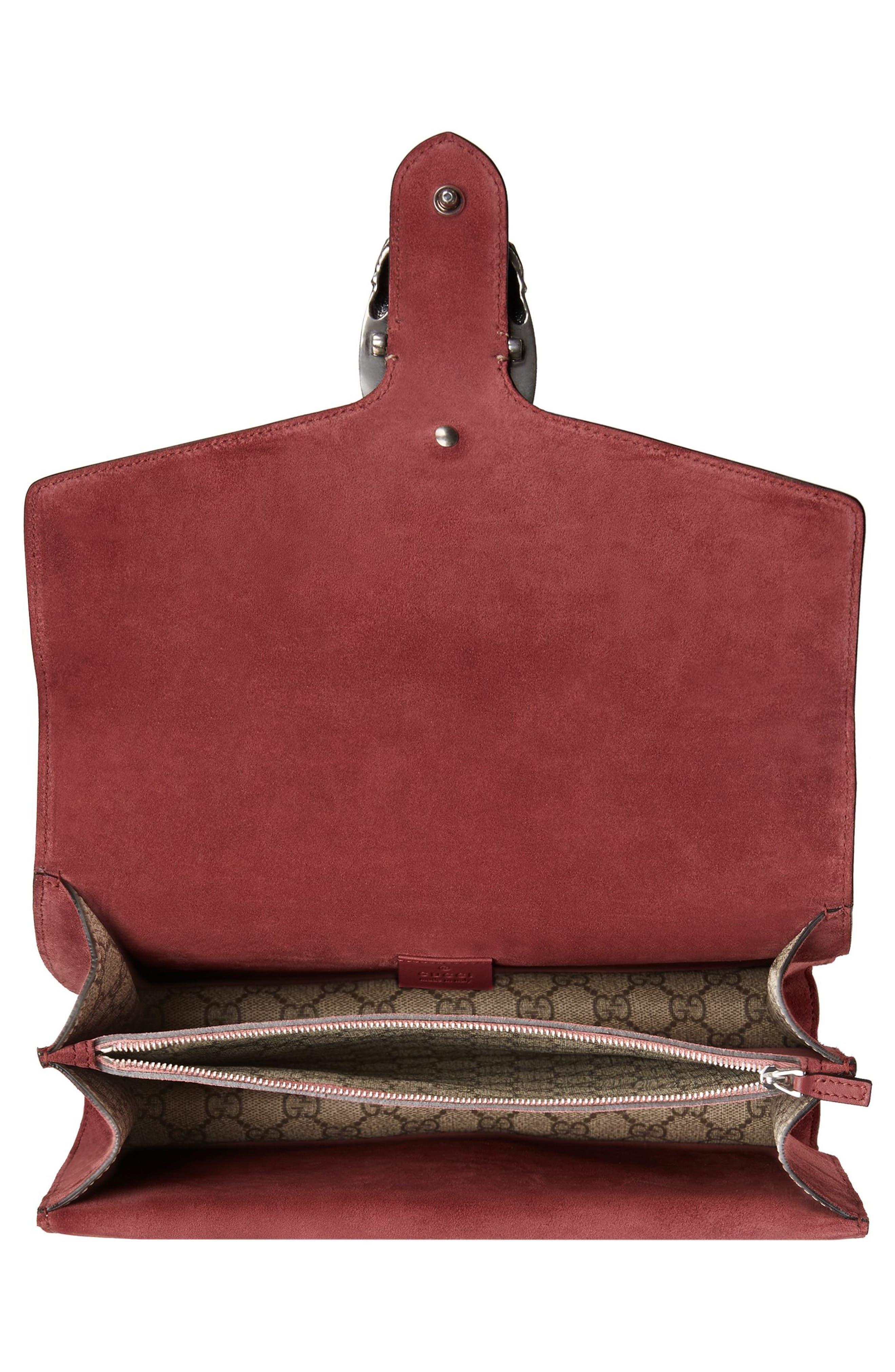 Alternate Image 4  - Gucci Large Floral GG Supreme Canvas & Suede Shoulder Bag