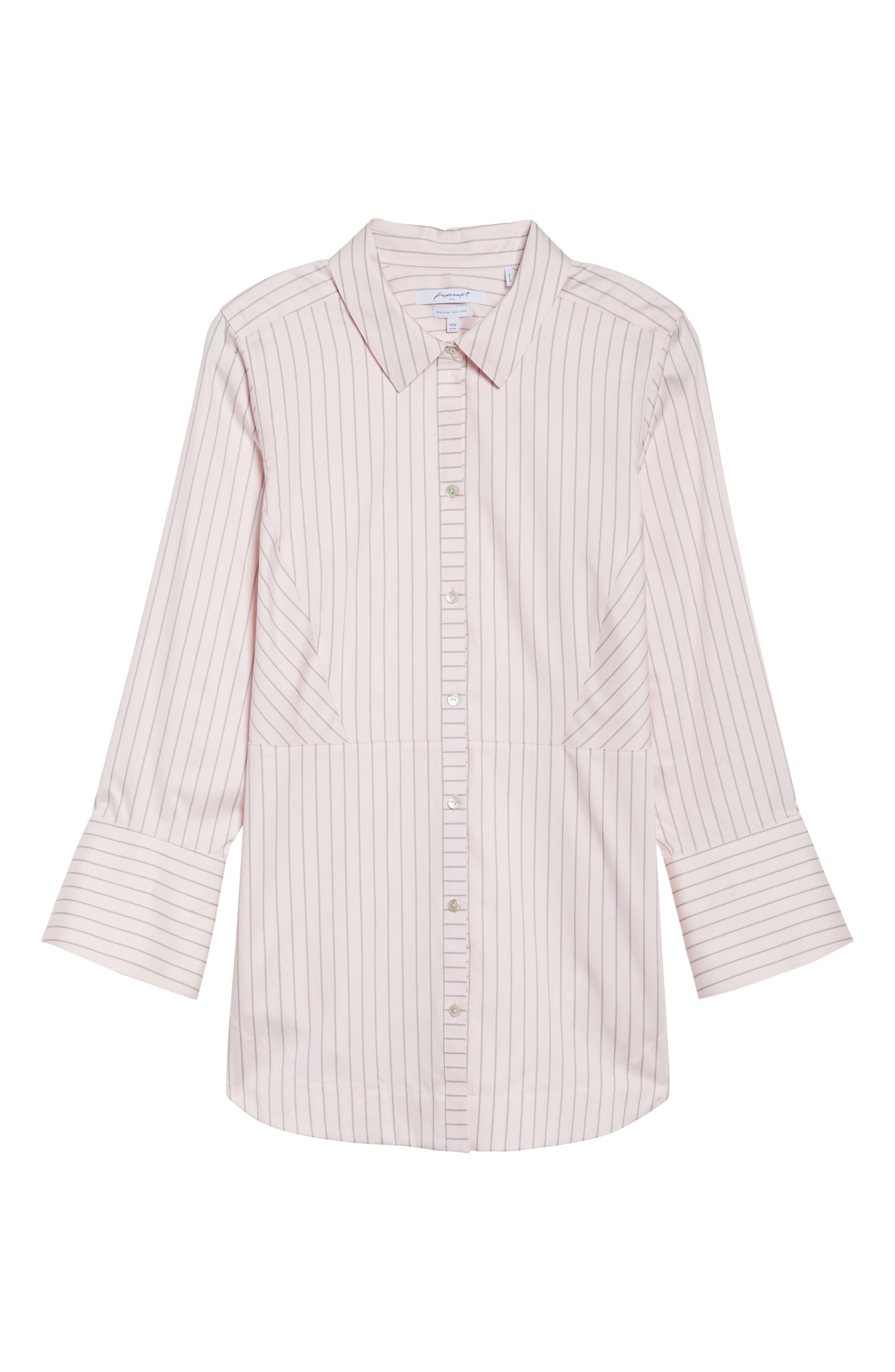 Patrice Classic Stripe Shirt,                             Alternate thumbnail 6, color,                             Blush