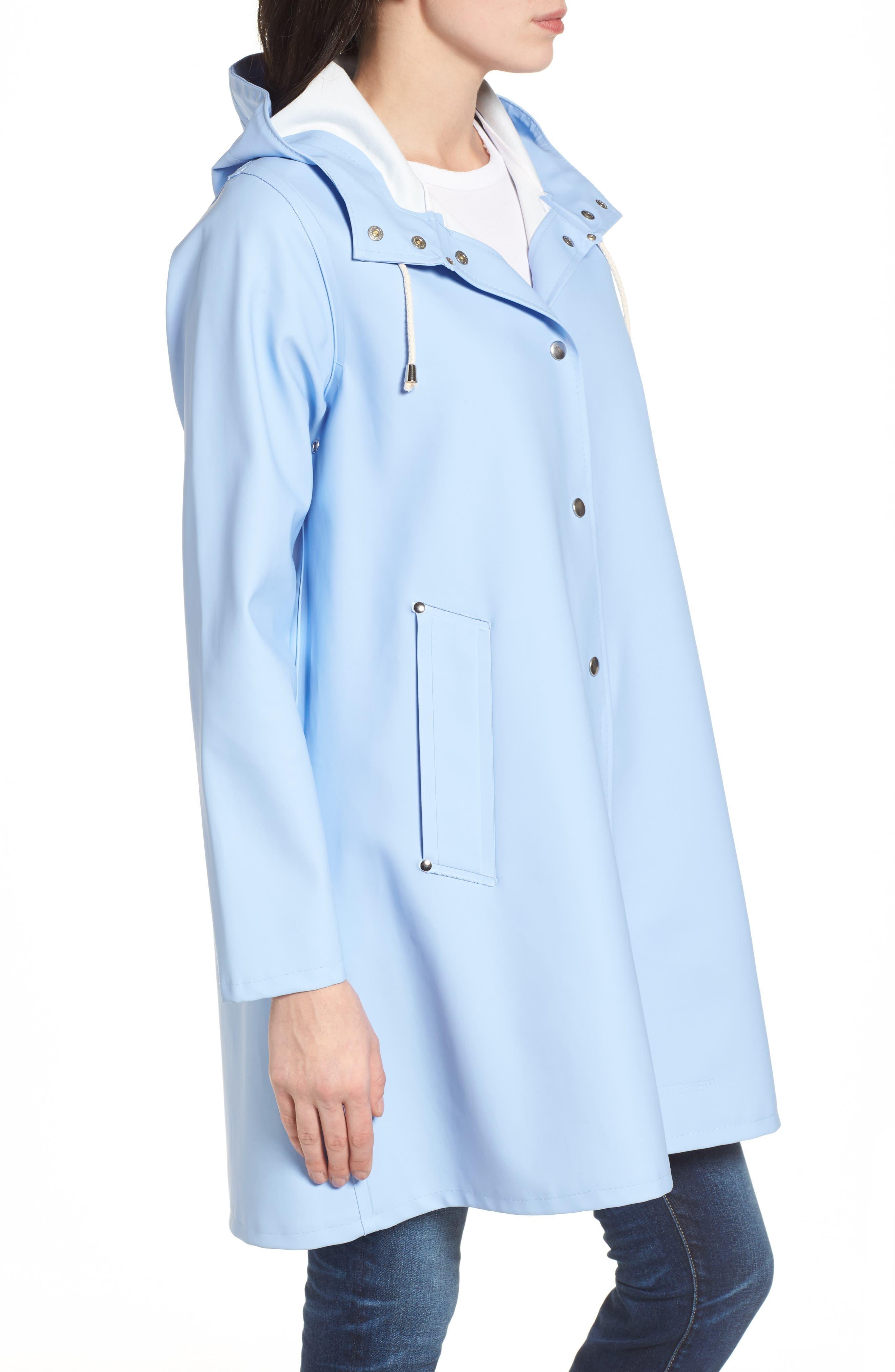 Alternate Image 3  - Stutterheim Mosebacke Waterproof A-Line Hooded Raincoat