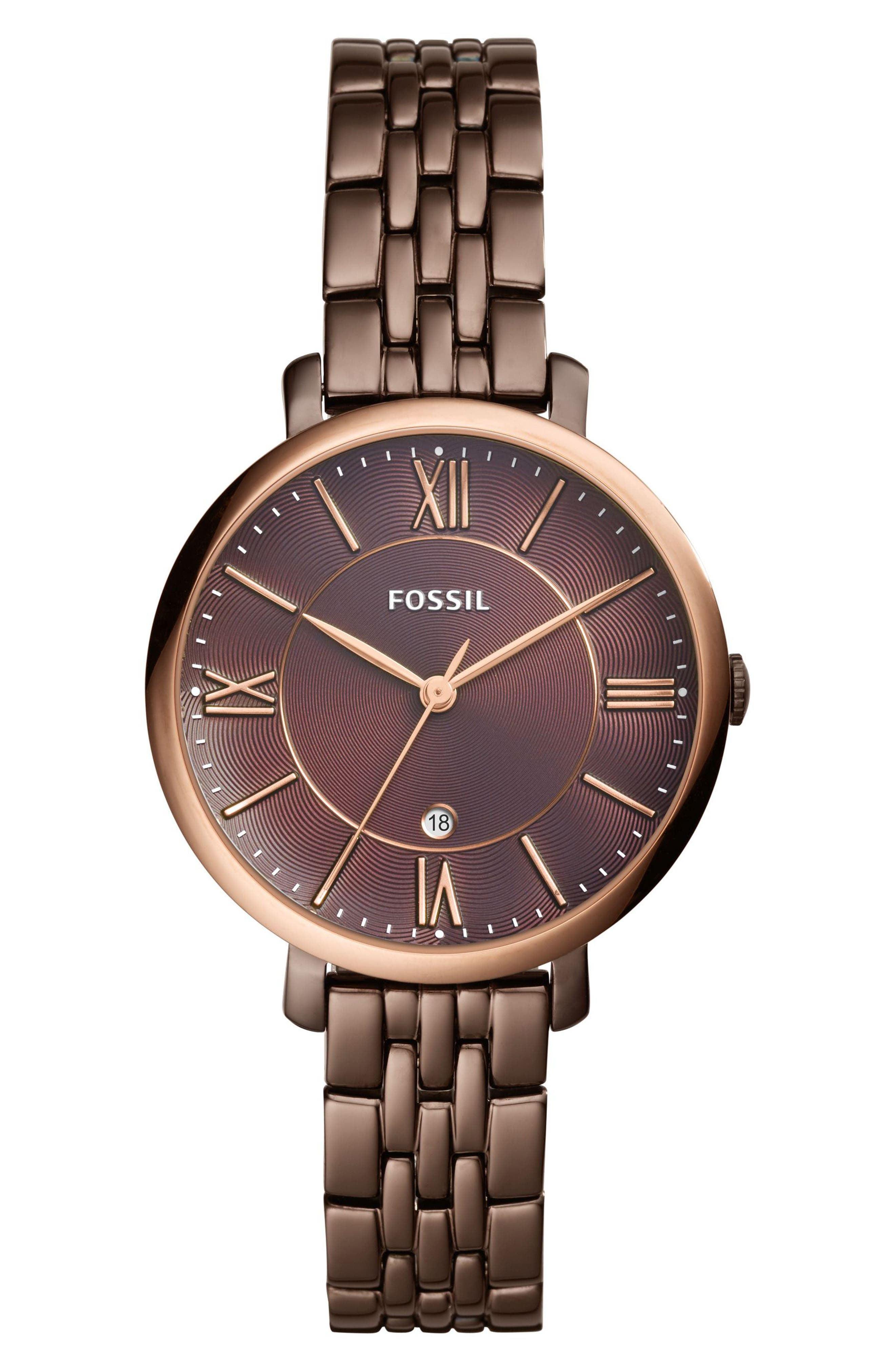 Fossil Jacqueline Bracelet Watch, 36mm