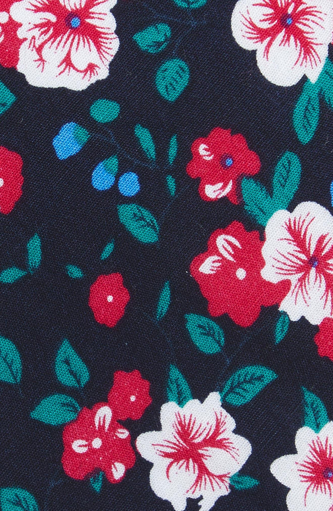 Alternate Image 2  - 1901 Haruby Floral Print Cotton Skinny Tie