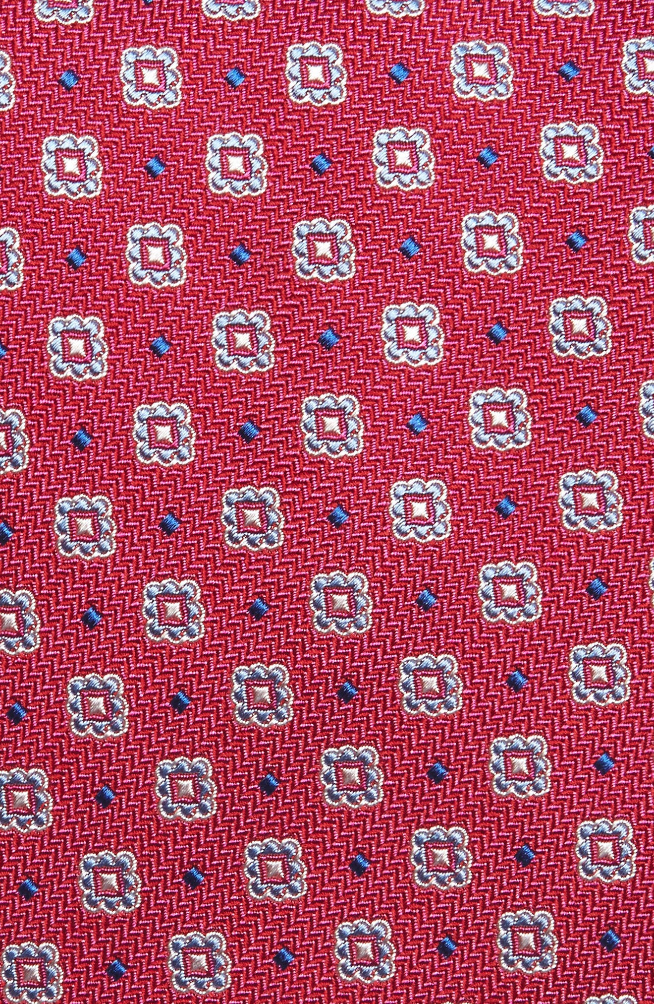 Neat Silk Tie,                             Alternate thumbnail 2, color,                             Berry