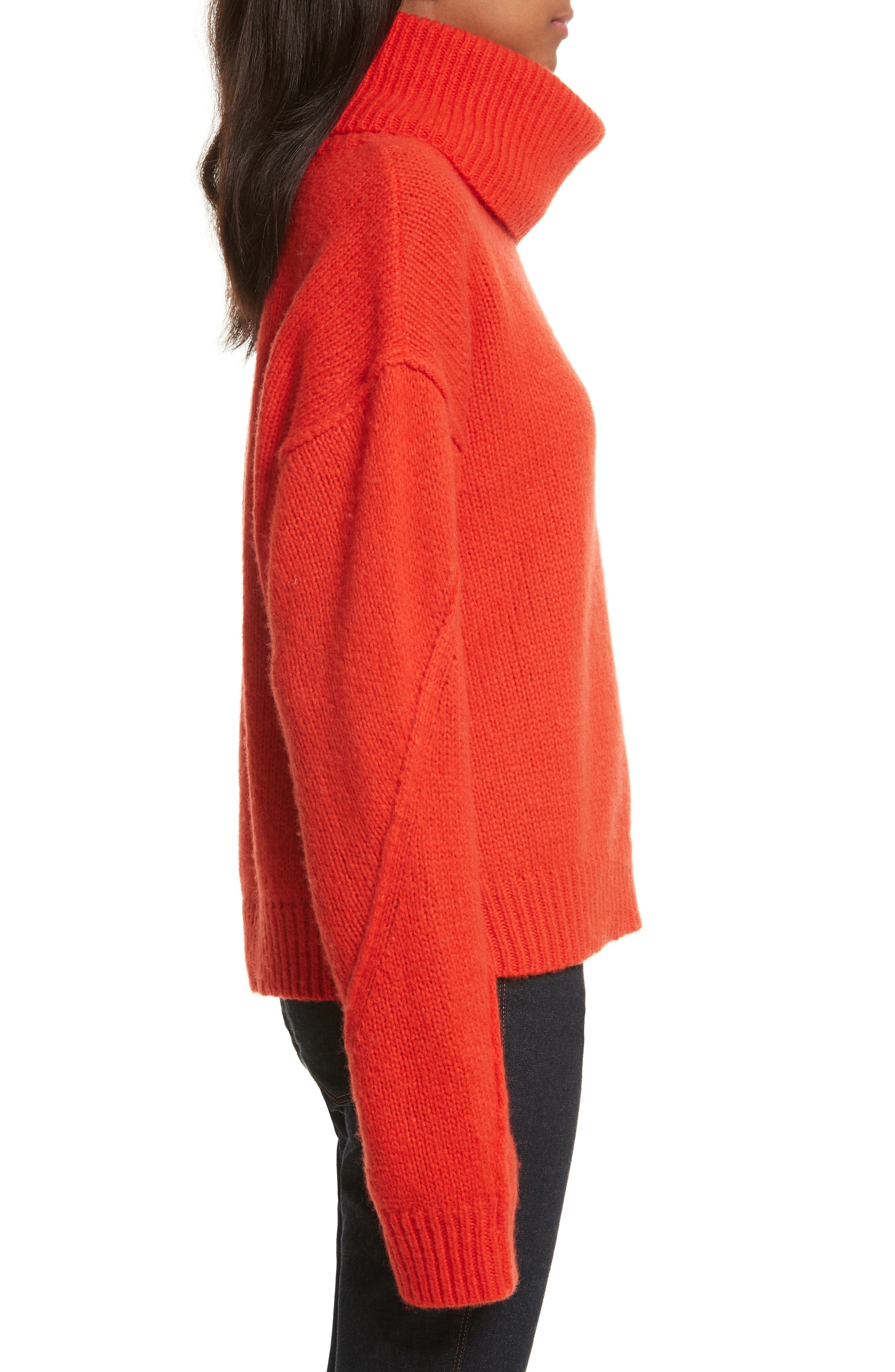 TORY BURCH Wools EVA REMOVABLE TURTLENECK SWEATER