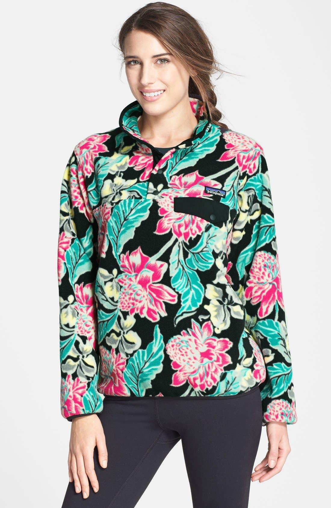 Synchilla Snap-T<sup>®</sup> Fleece Pullover,                         Main,                         color, Manoa Black