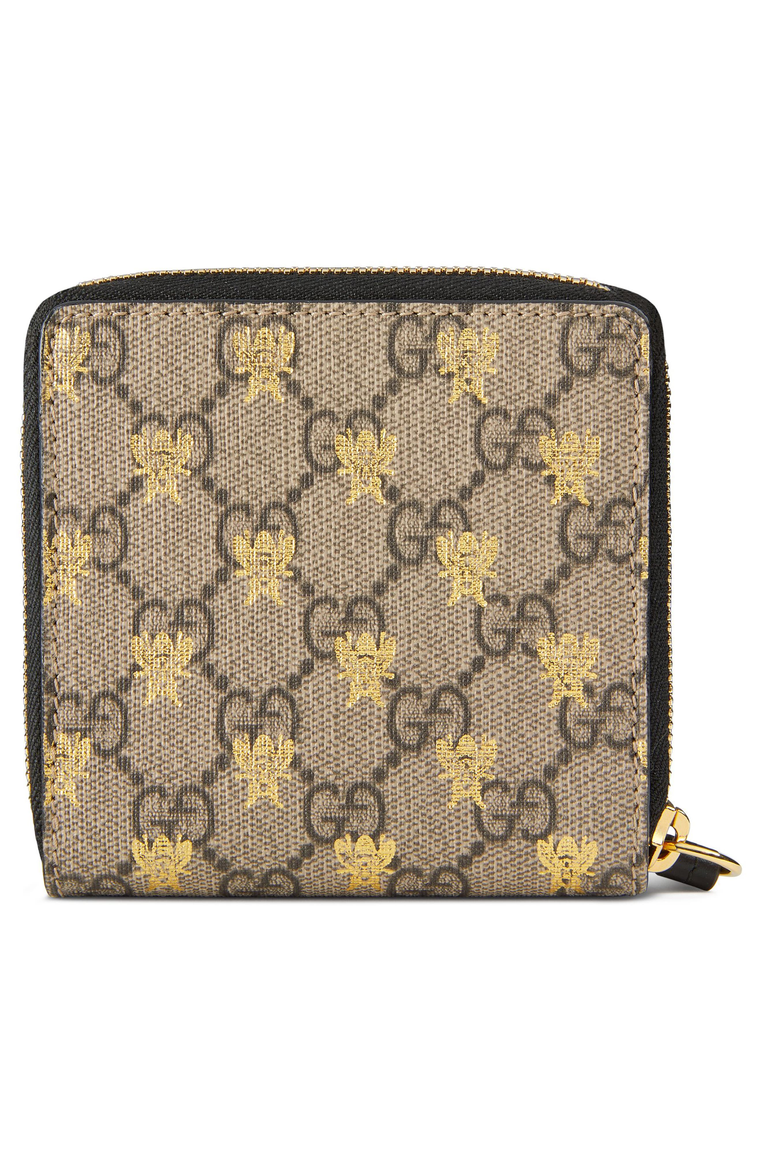 Alternate Image 3  - Gucci Bee GG Supreme French Wallet