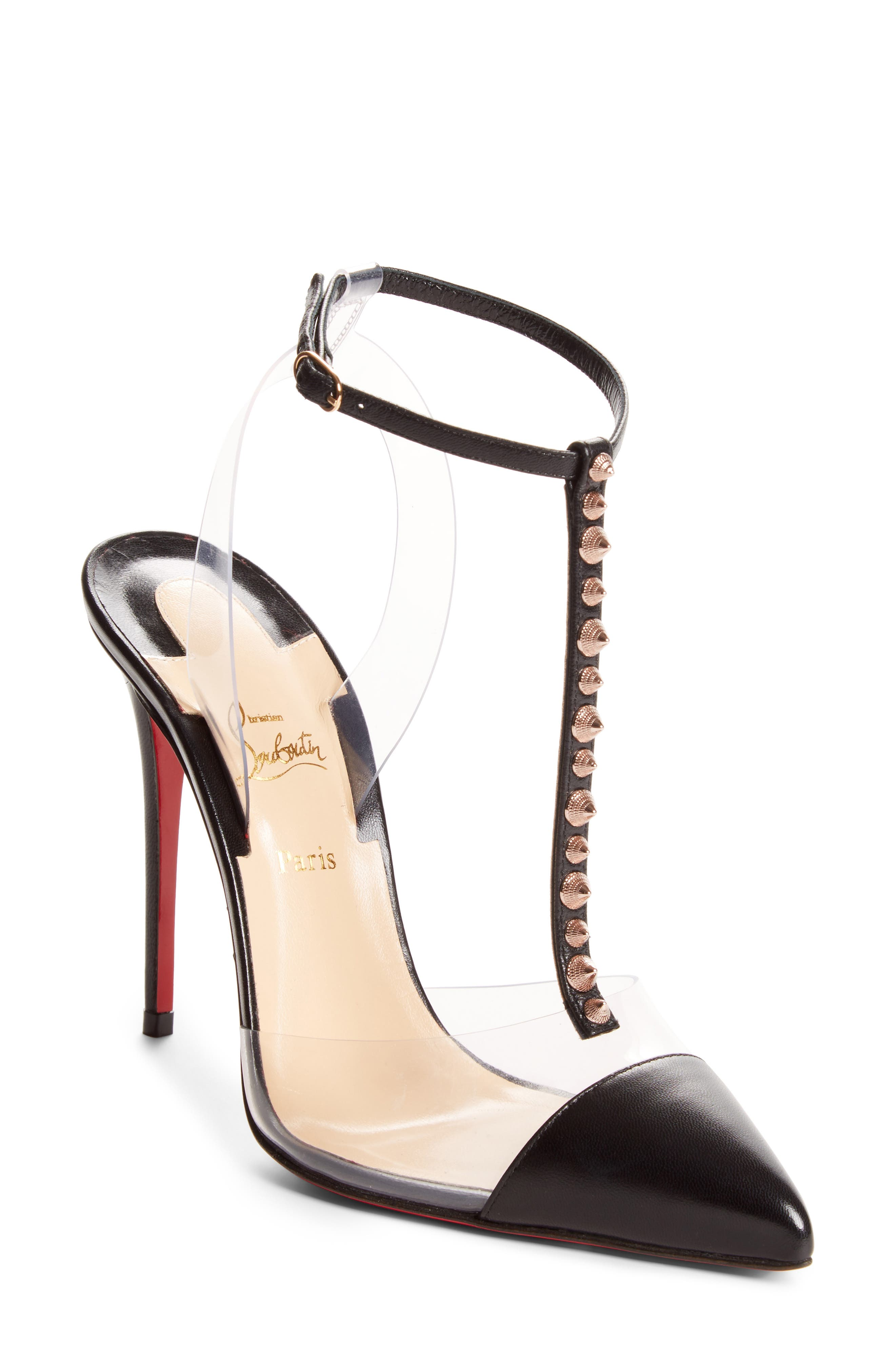 Alternate Image 1 Selected - Christian Louboutin Nosy Spikes PVC Pump (Women)