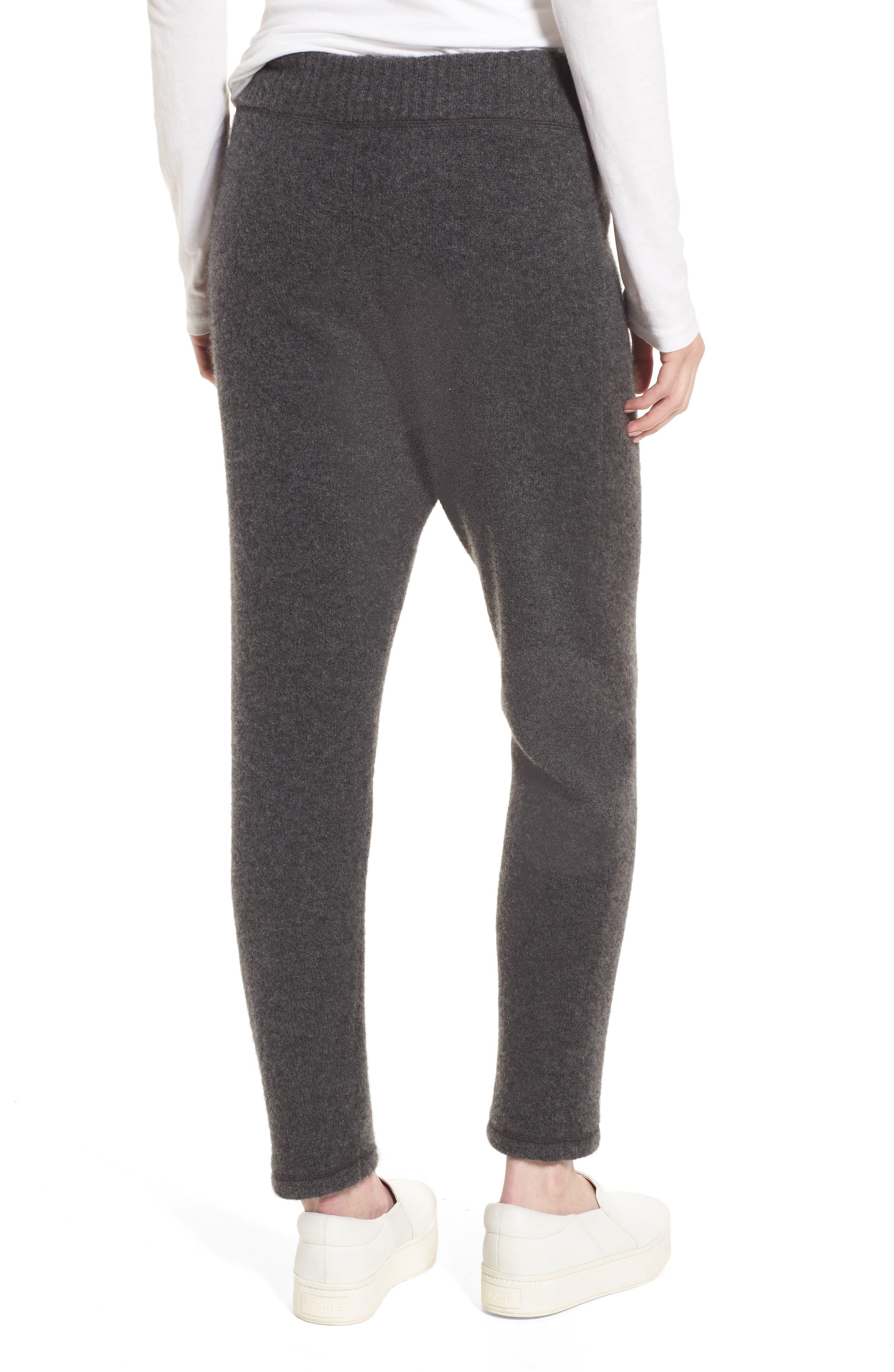 Brushed Cashmere Sweatpants,                             Alternate thumbnail 2, color,                             Charcoal