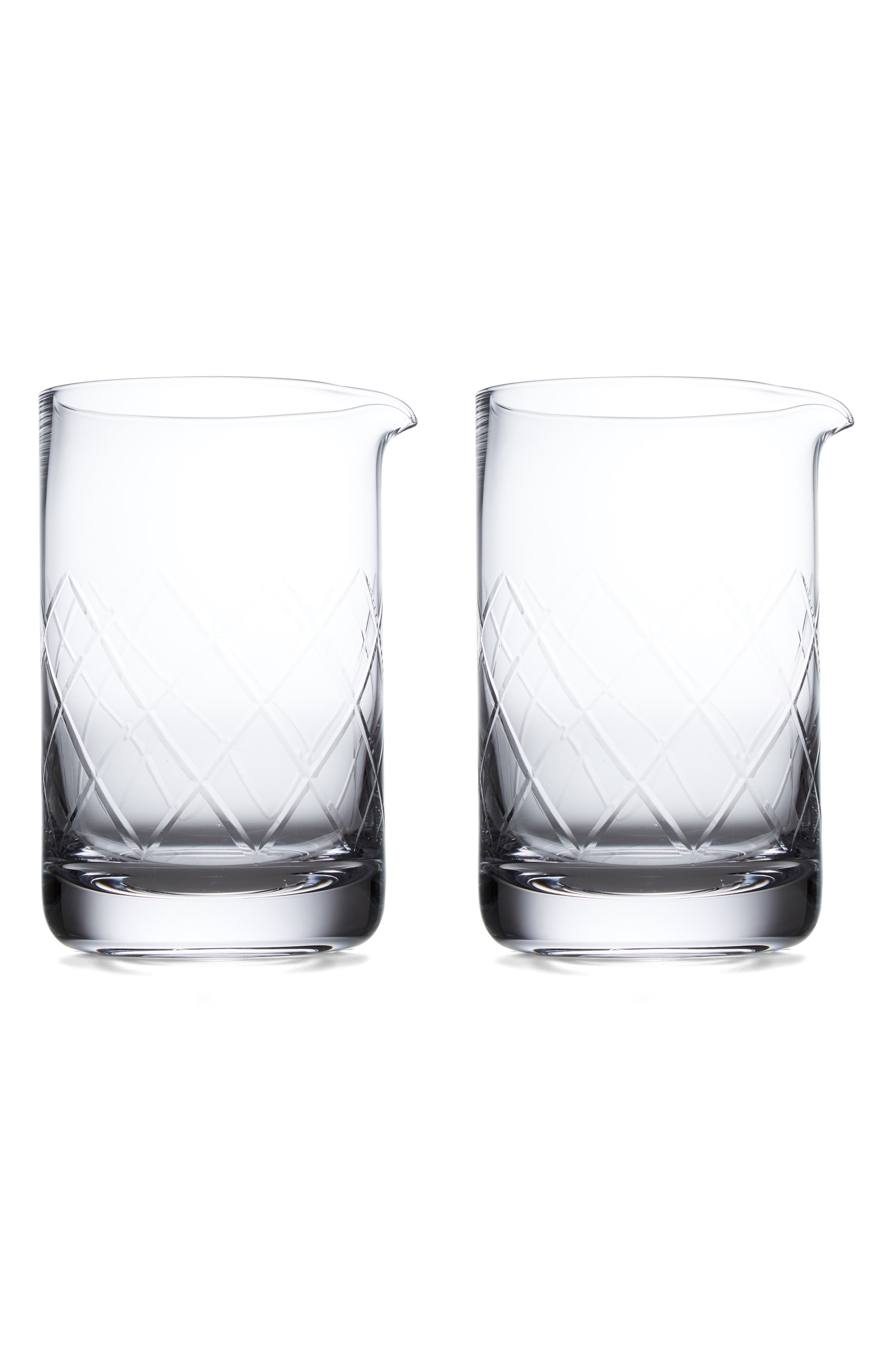 Viski by True Fabrications Professional Extra Large Mixing Glass,                             Main thumbnail 1, color,                             White