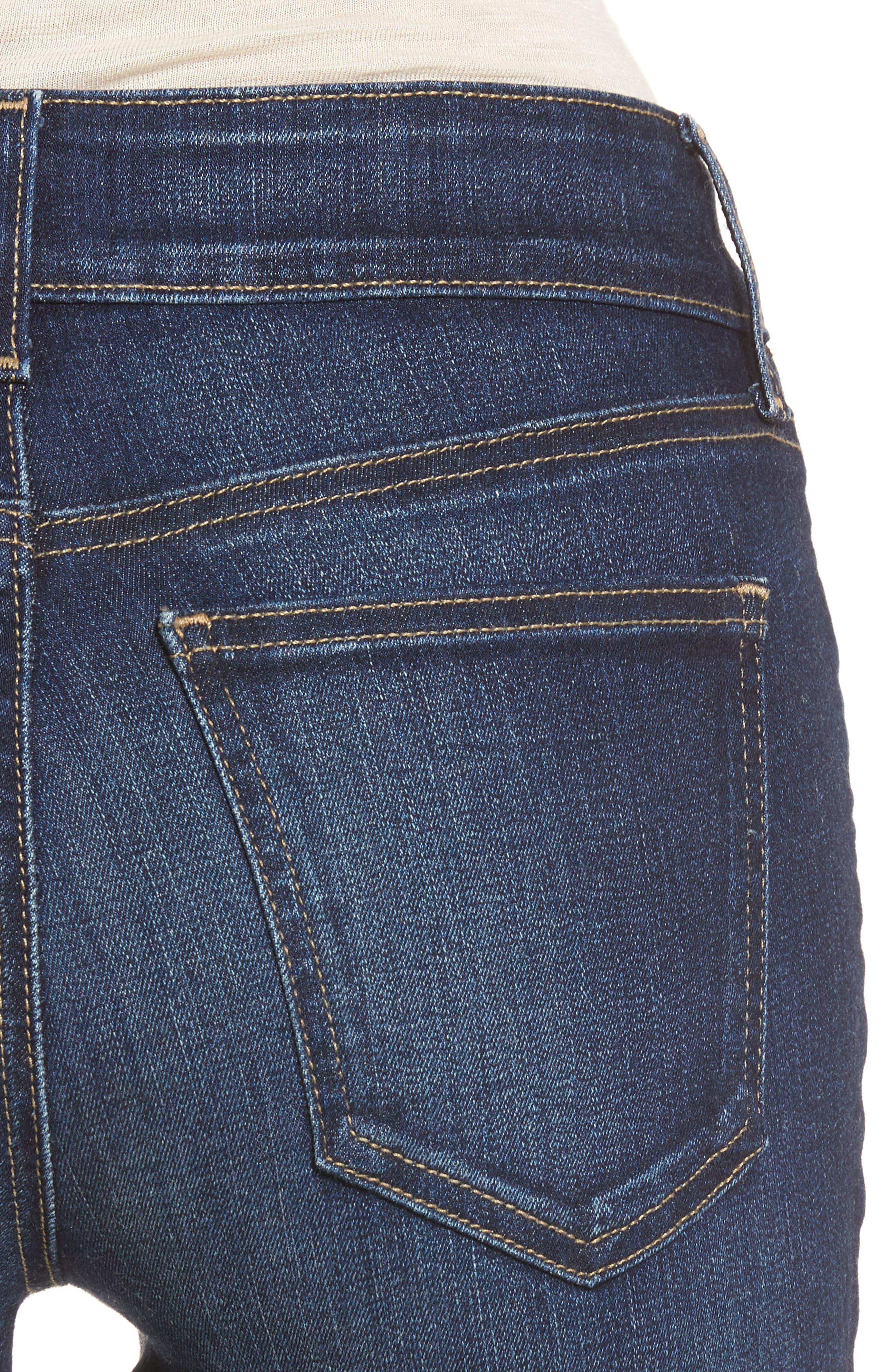 Alina Release Hem Stretch Ankle Jeans,                             Alternate thumbnail 5, color,                             Bezel