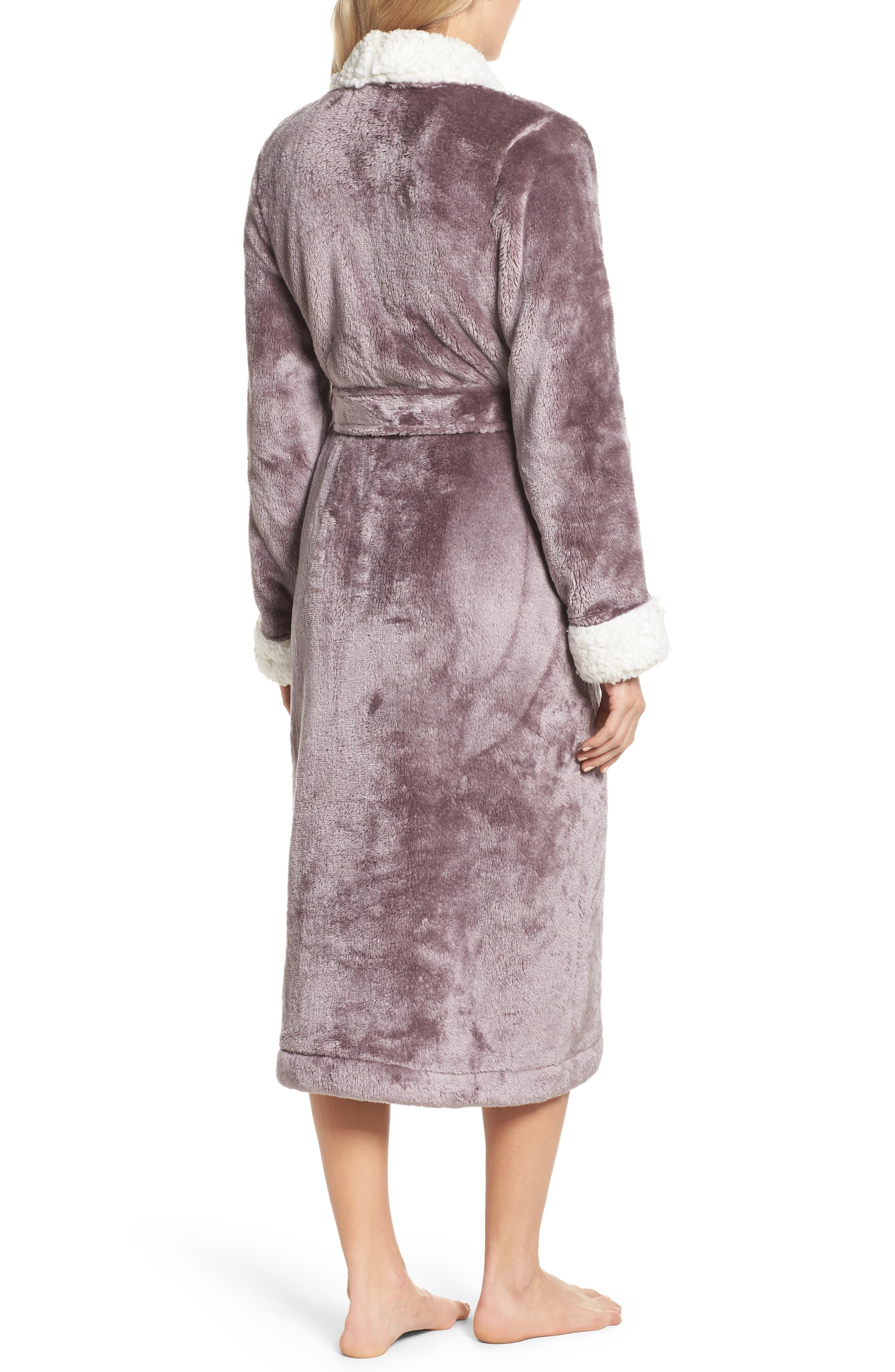 Alternate Image 2  - Nordstrom Lingerie Frosted Plush Robe