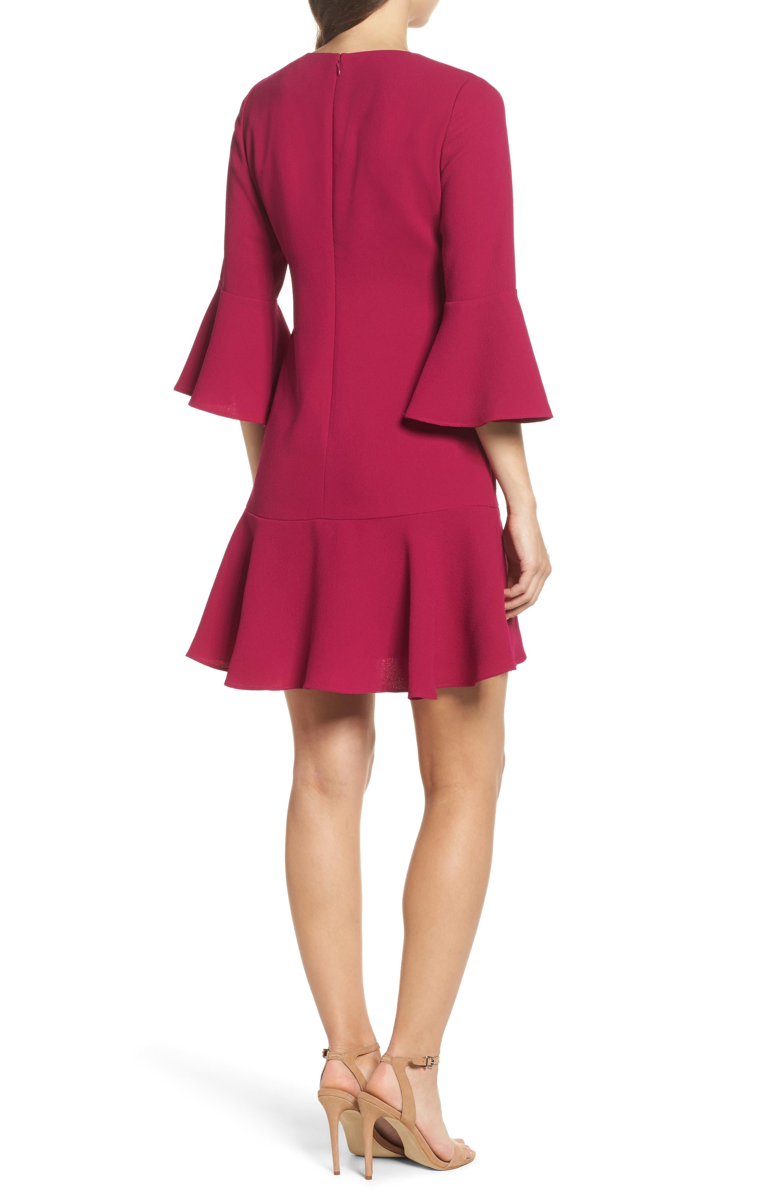 Alternate Image 2  - Eliza J Bell Sleeve Fit & Flare Dress