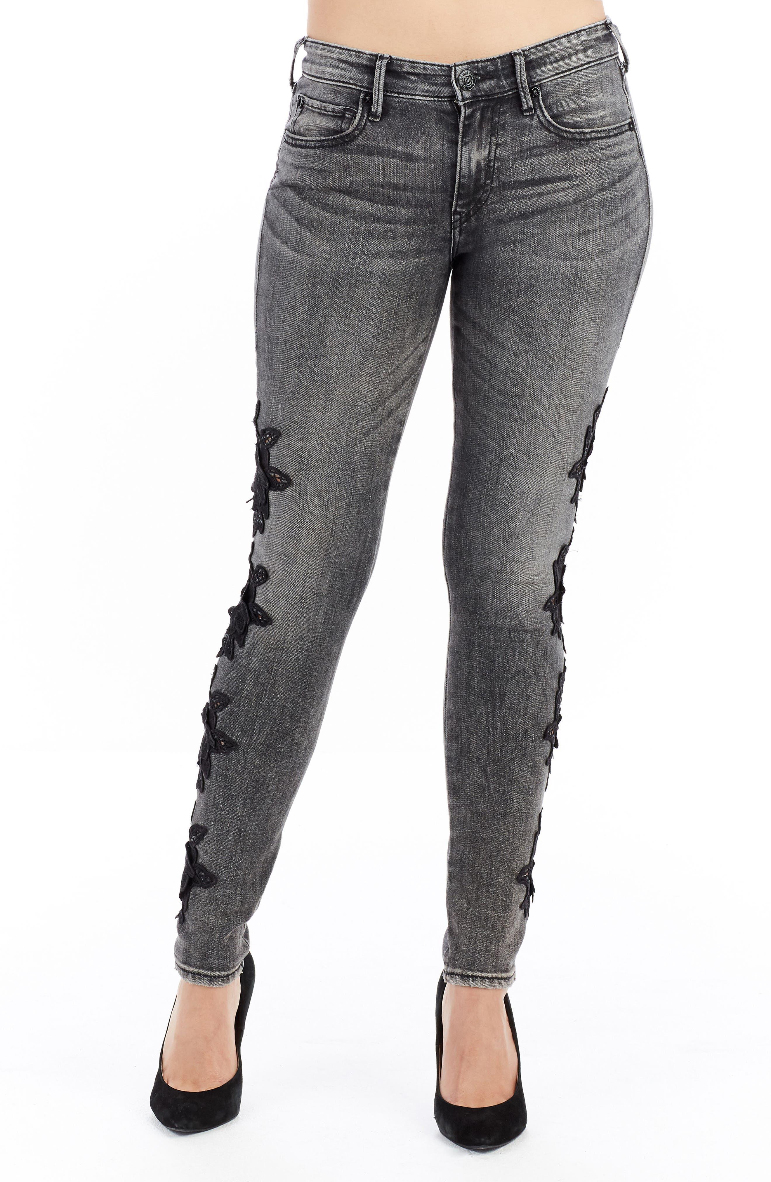 Jennie Curvy Skinny Jeans,                         Main,                         color, Rhodium