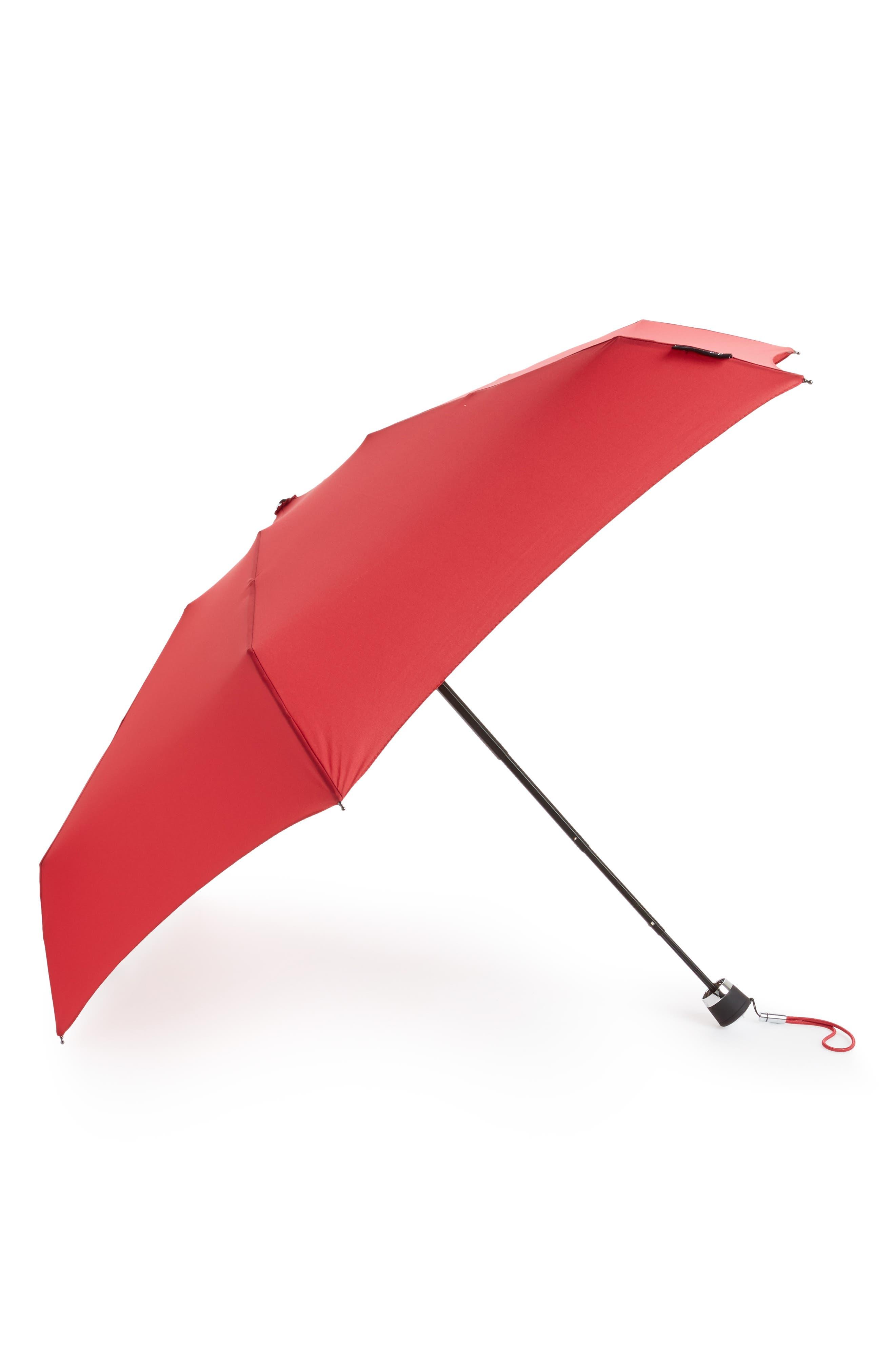 Mini Umbrella,                             Main thumbnail 1, color,                             Deep Red