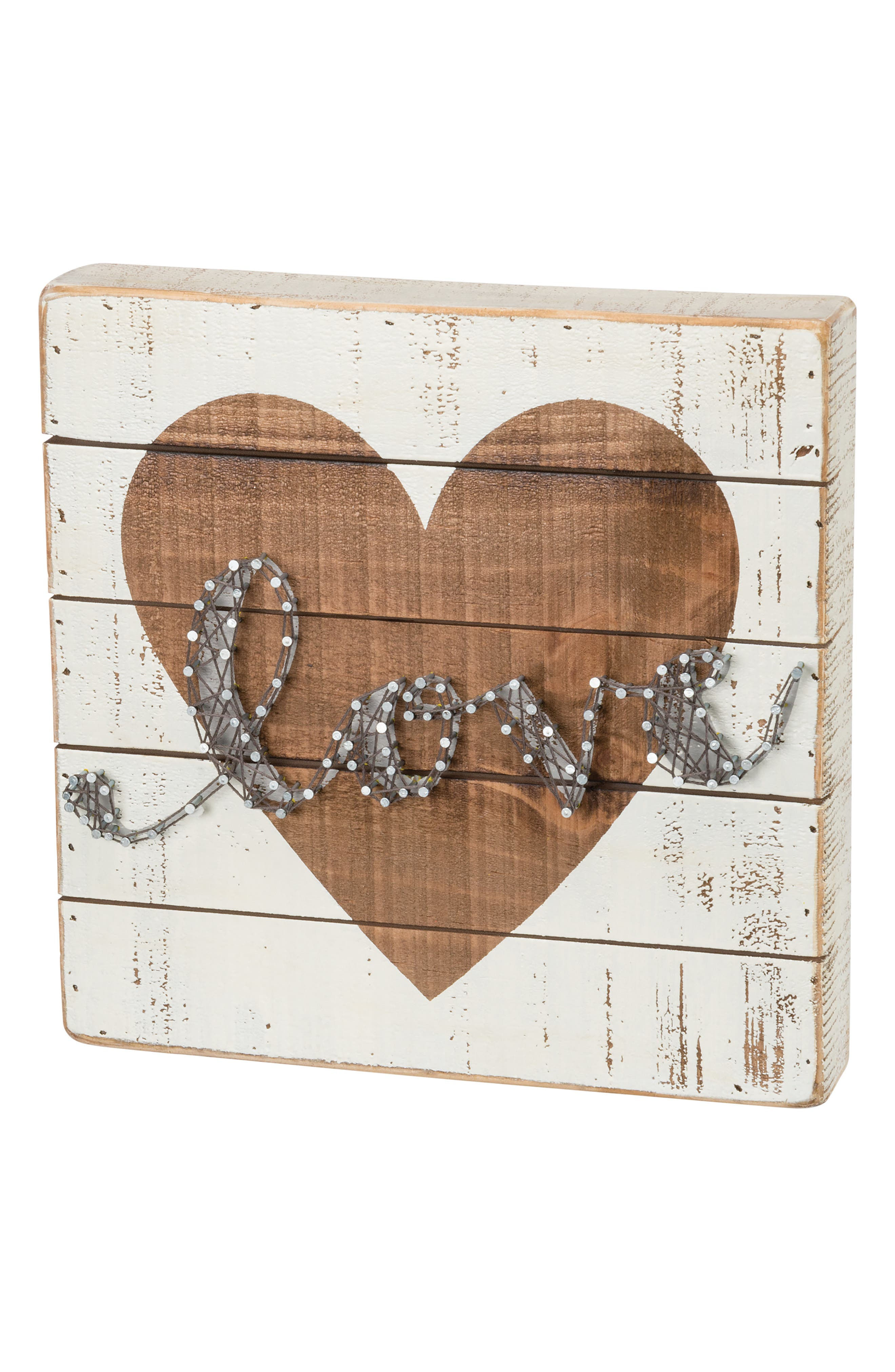 Love String Art Box Sign,                         Main,                         color, Ivory