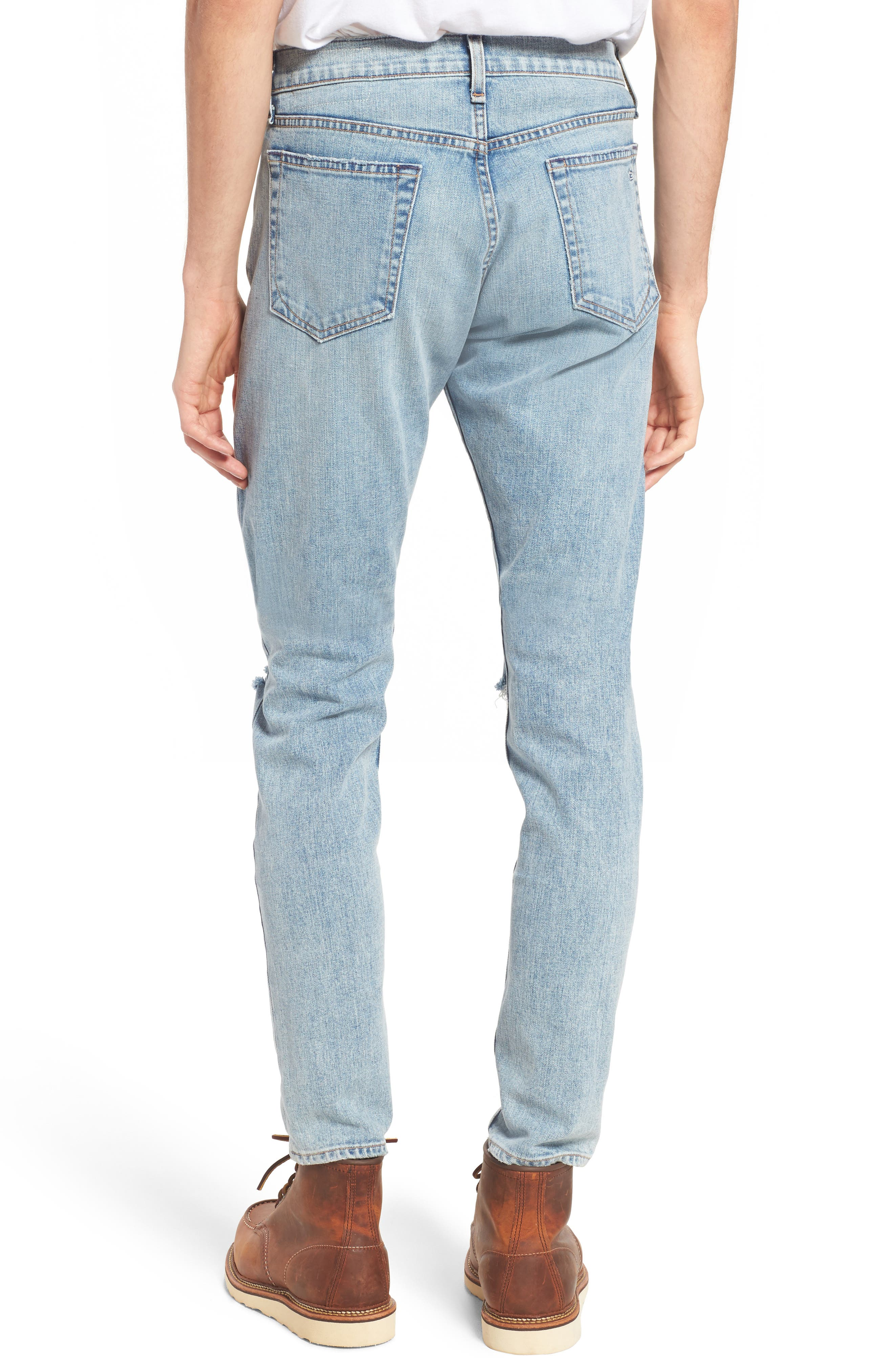 Fit 1 Skinny Fit Jeans,                             Alternate thumbnail 2, color,                             Jameson With Holes