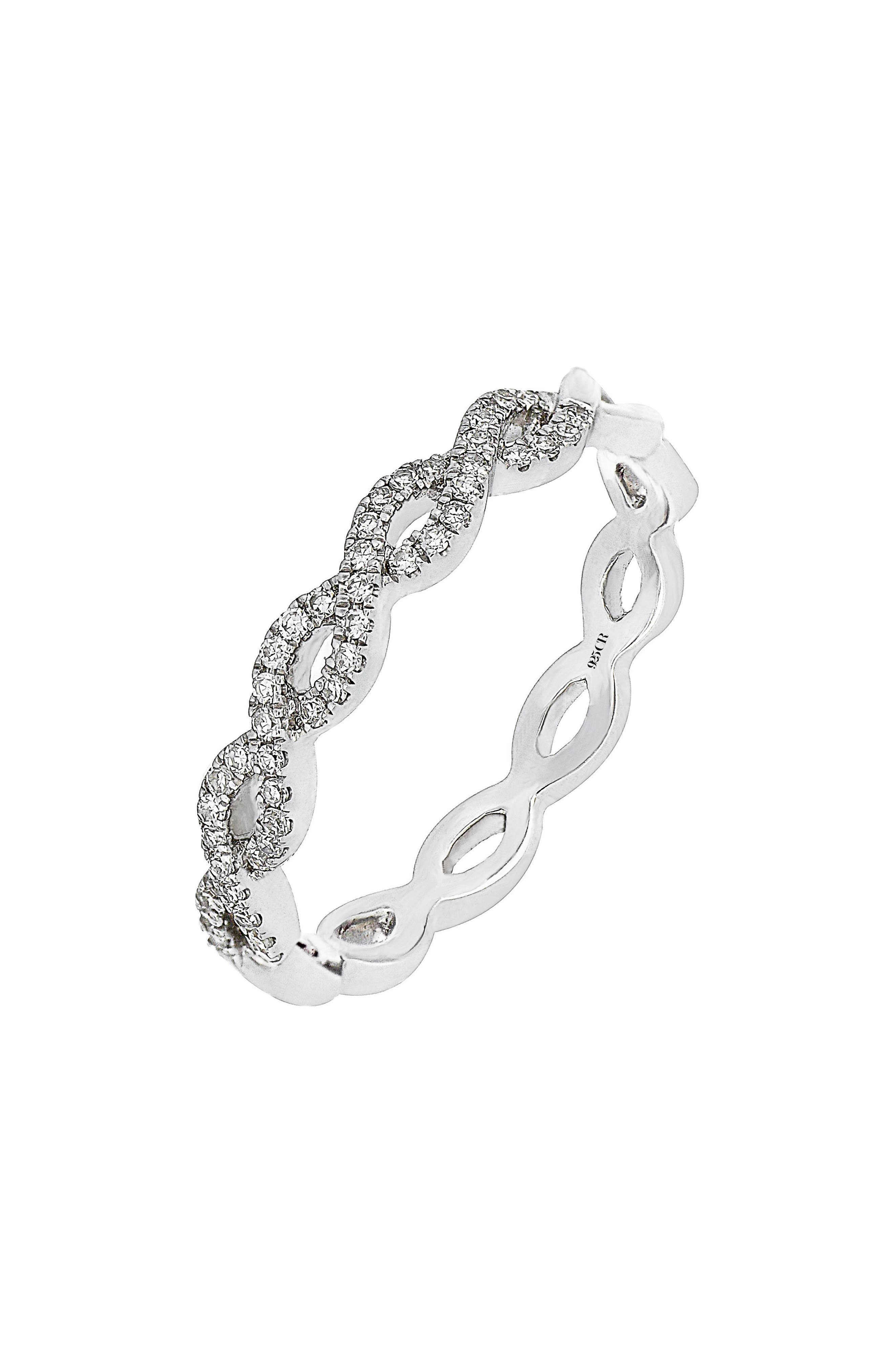 Carrière Diamond Weave Ring (Nordstrom Exclusive)