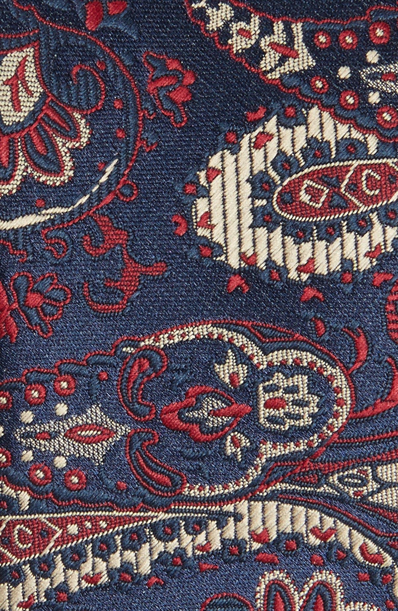 Paisley Tie,                             Alternate thumbnail 2, color,                             Navy Blue