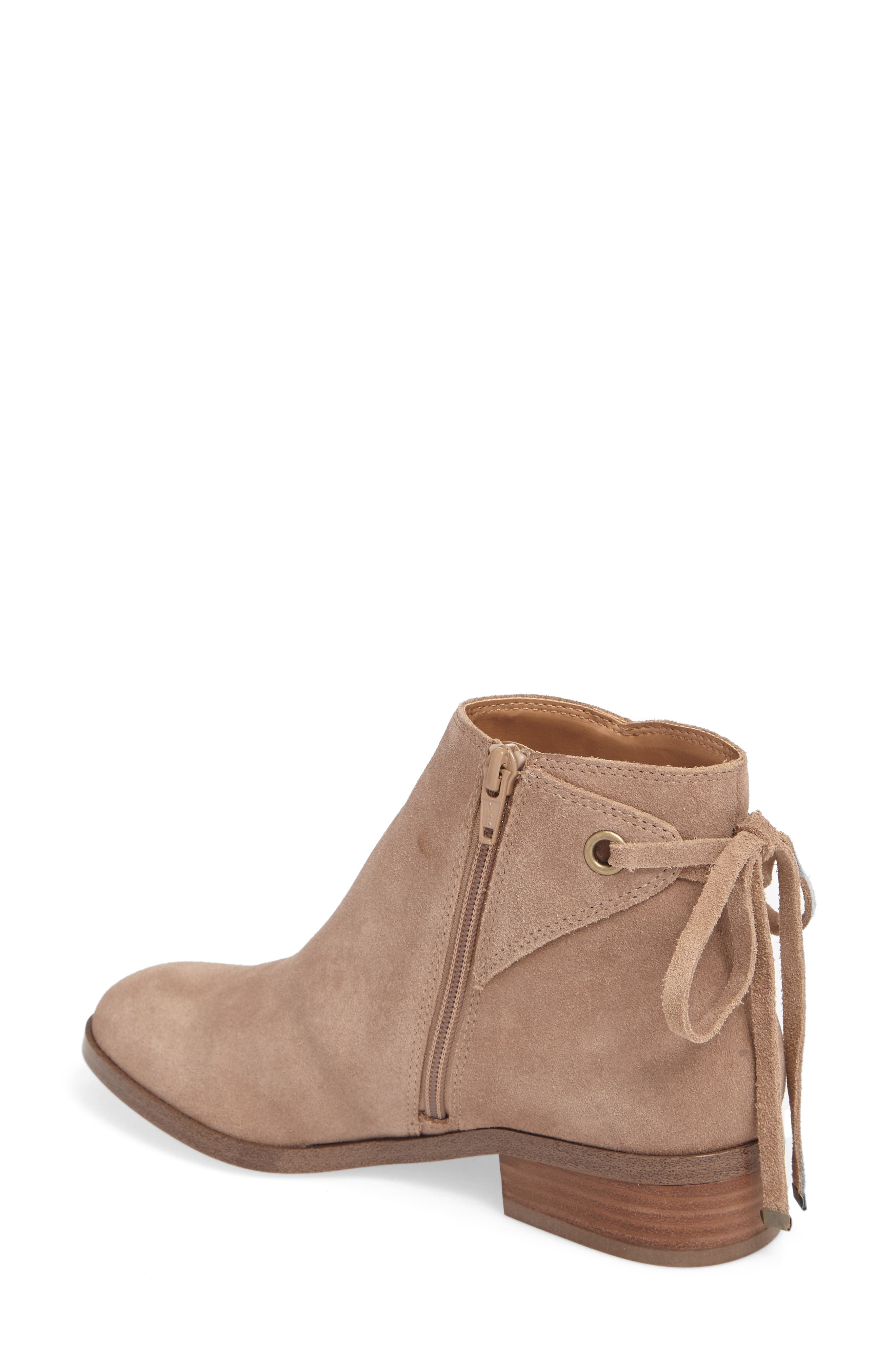 Lachlan Tie Back Bootie,                             Alternate thumbnail 2, color,                             Taupe
