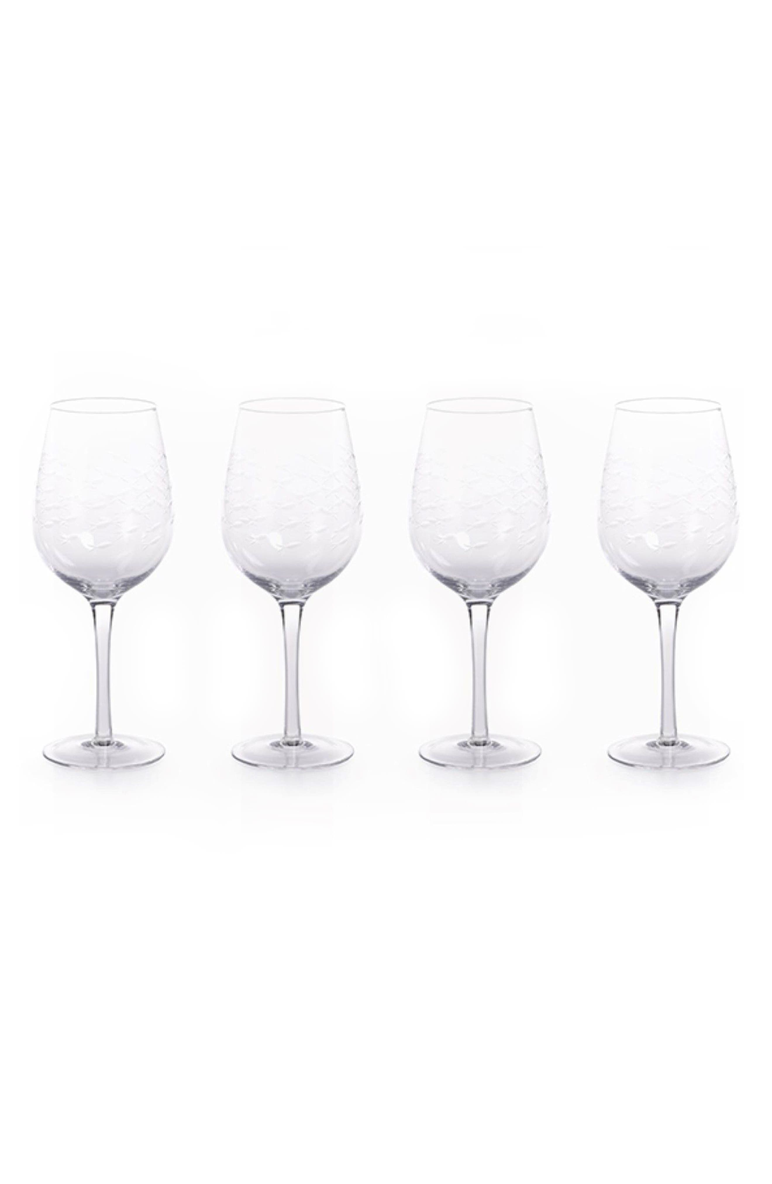 Keely Set of 4 Wine Glasses,                             Main thumbnail 1, color,                             Clear
