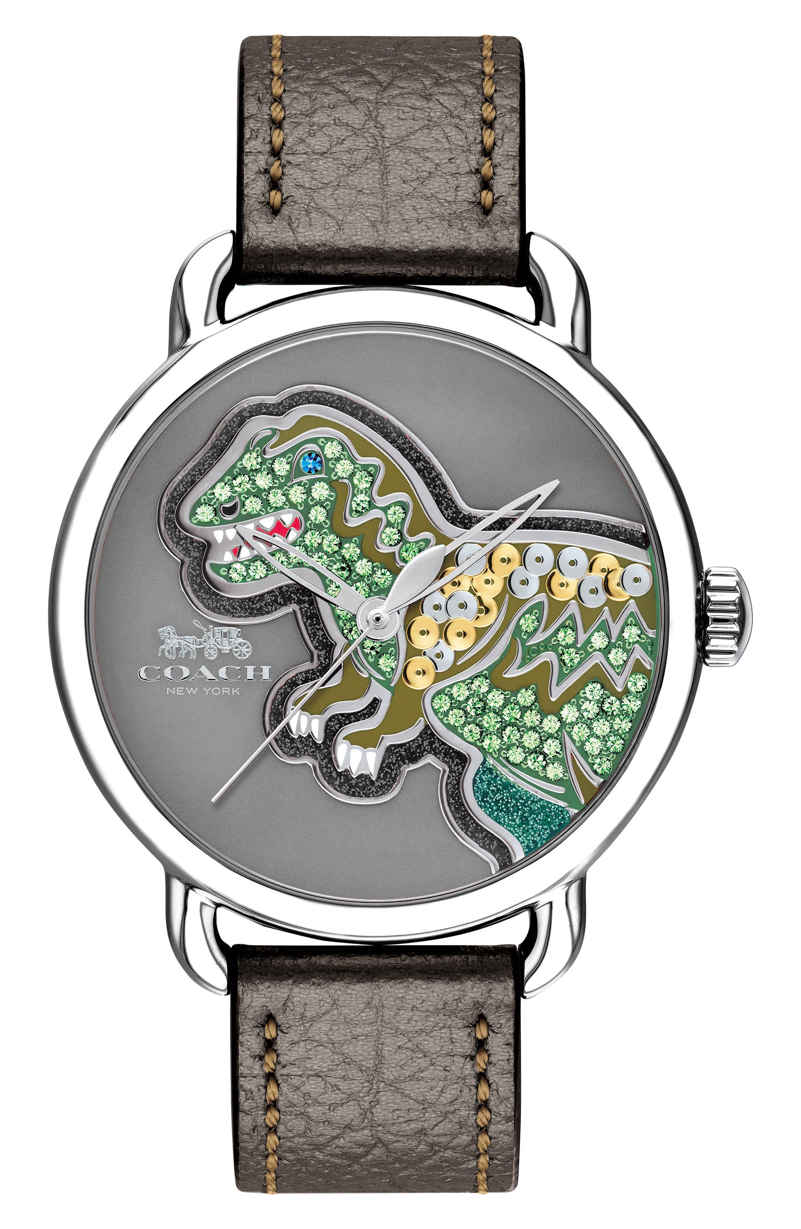 COACH Delancey Rexy Leather Strap Watch, 36mm