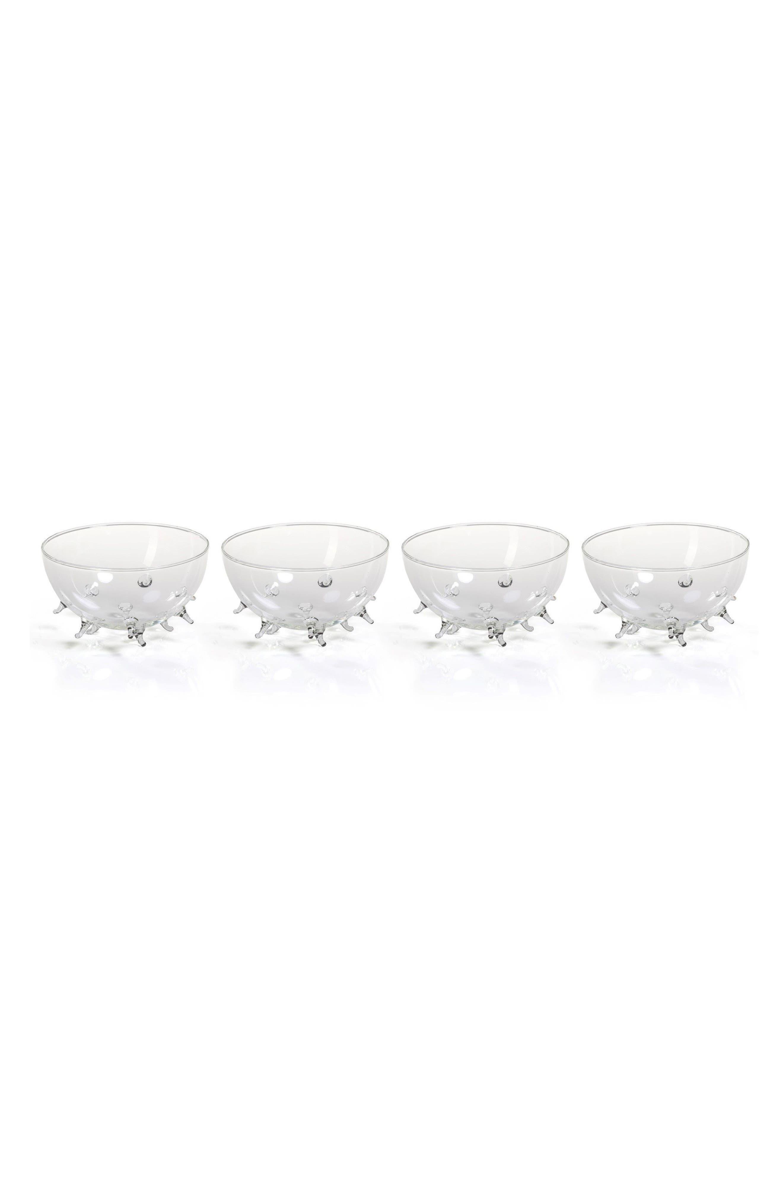 Suri Set of 4 Bowls,                         Main,                         color, Clear